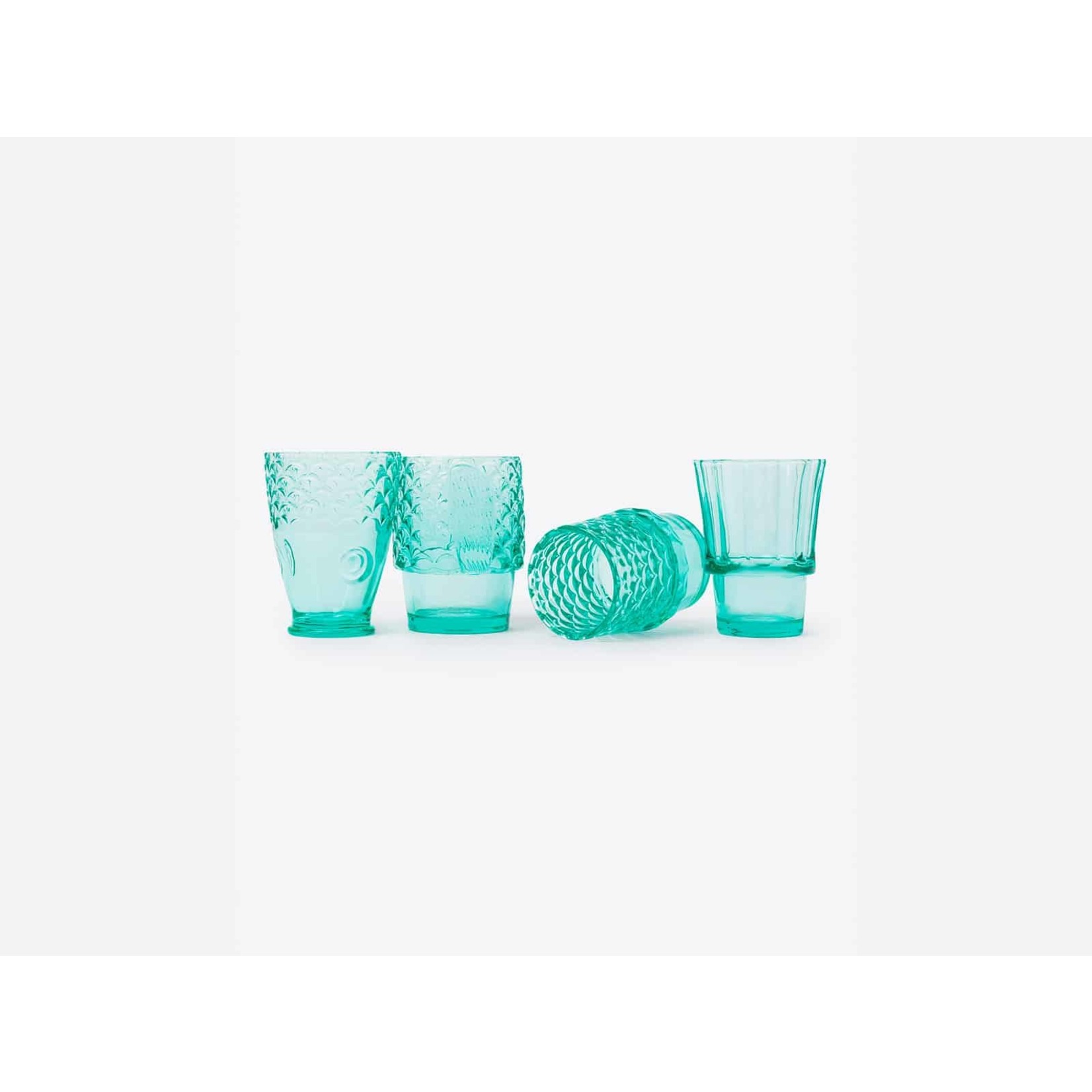 Koifish Stackable Drinking Glasses in Mint
