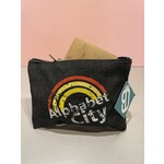 Alphabet City Rainbow Denim Pouch