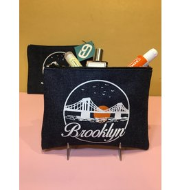 Brooklyn Sunset Denim Pouch