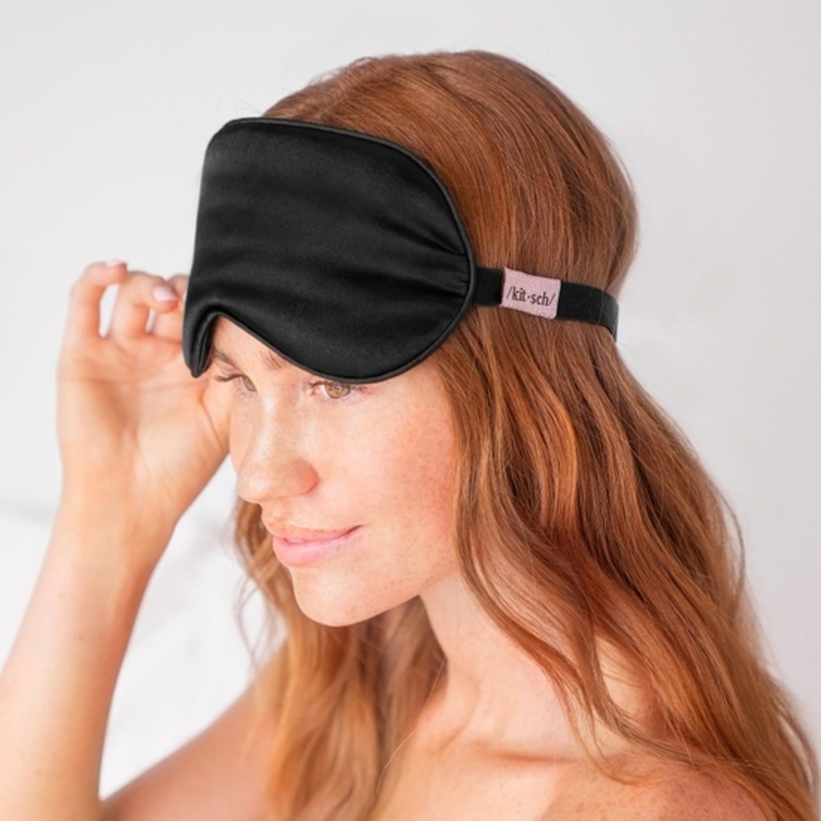 Kitsch Satin Eye Mask in Black