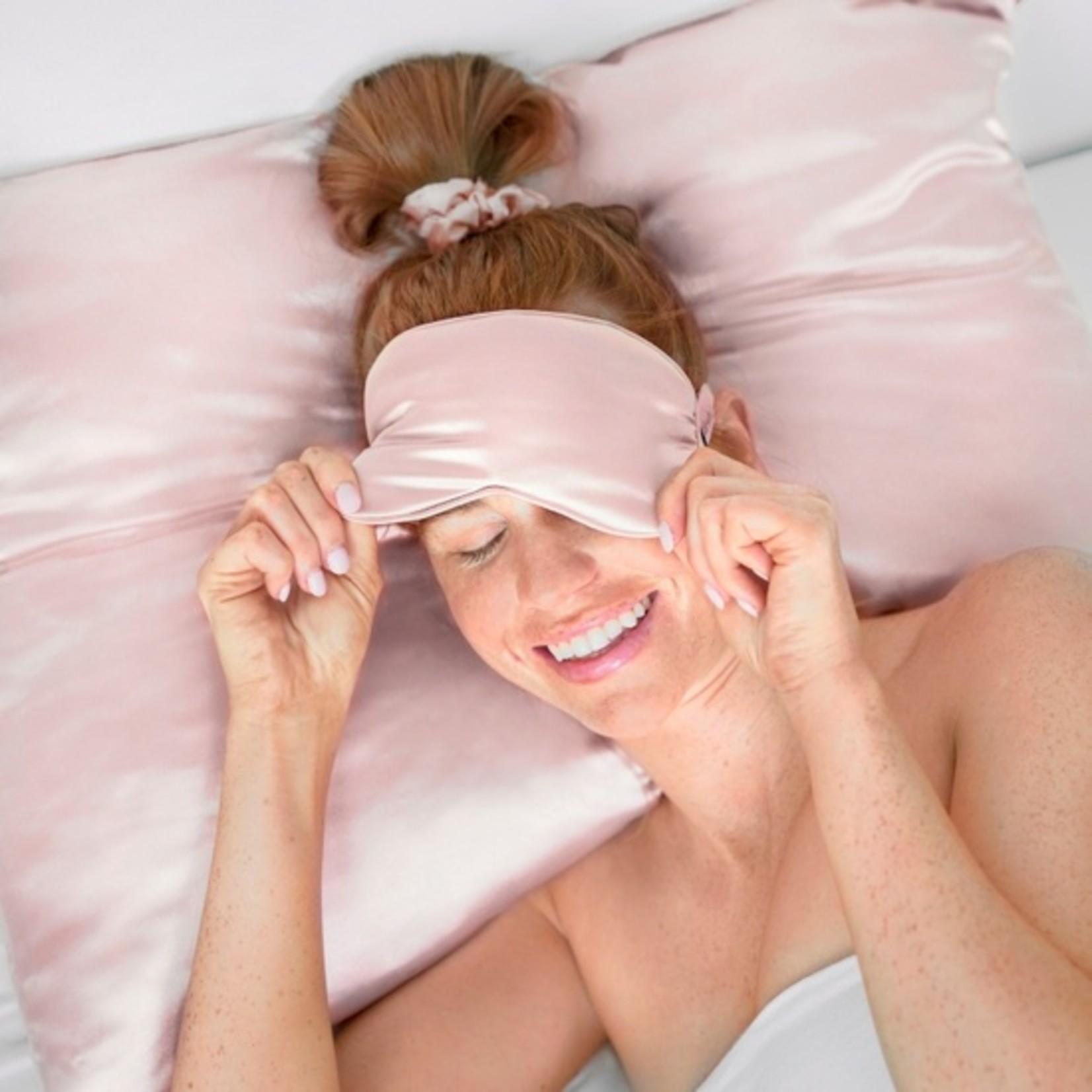 Kitsch Satin Eye Mask in Blush