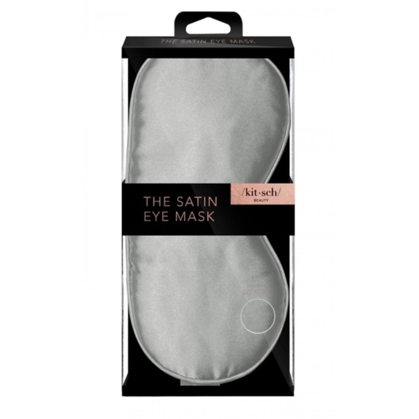Kitsch Satin Eye Mask in Silver