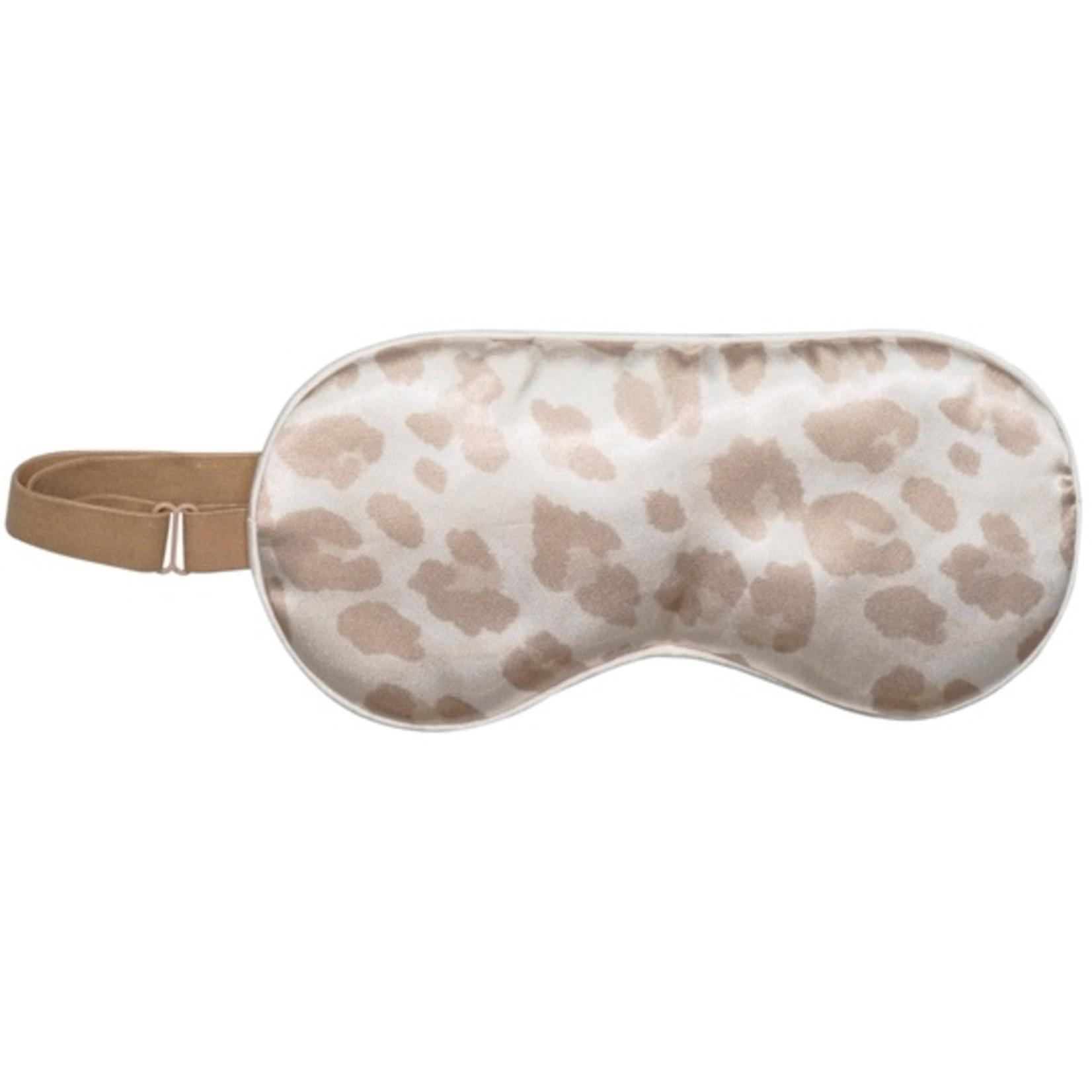 Kitsch Satin Eye Mask in Leopard