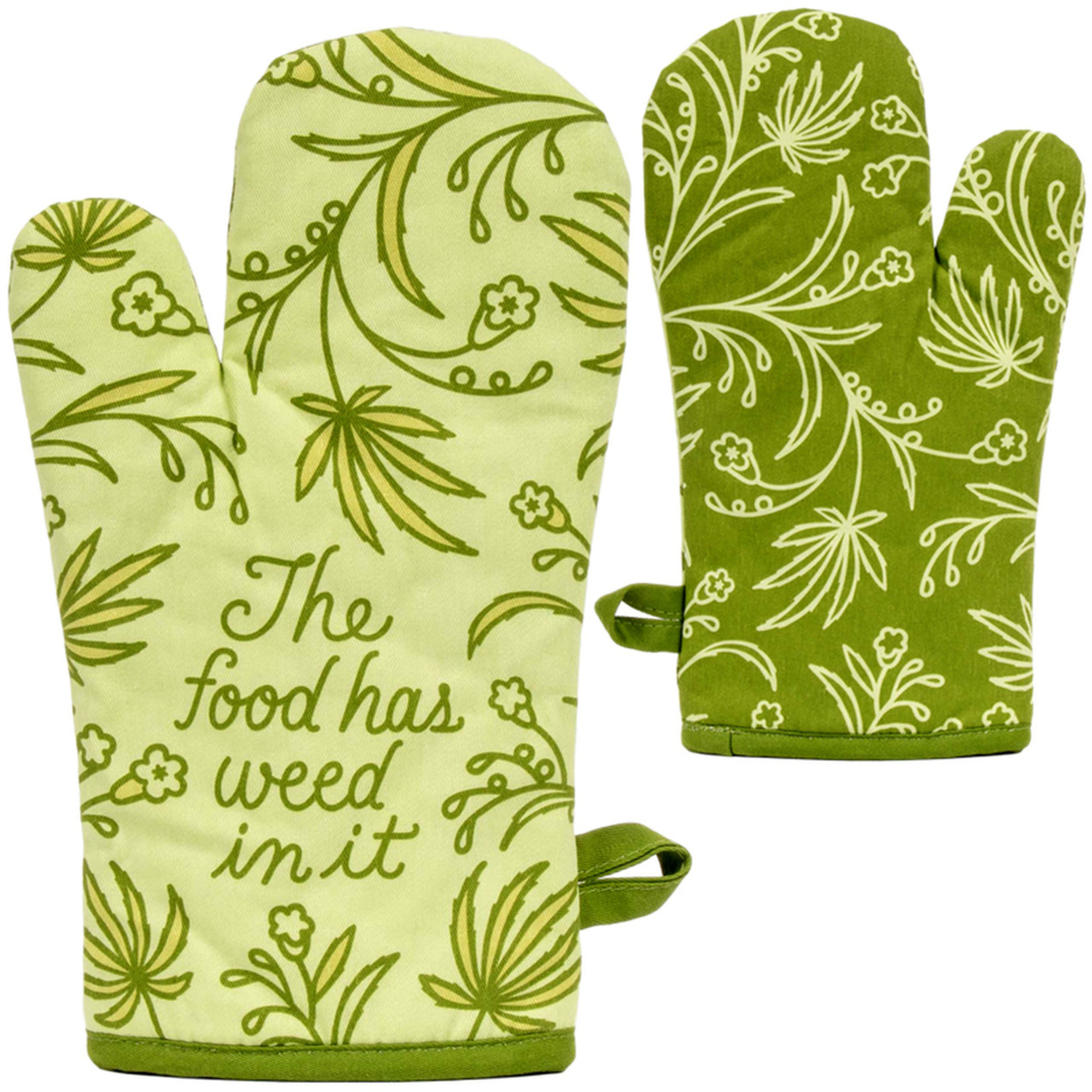 Blue Q Food Has Weed Oven Mitt