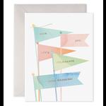 Wedding Card : Pennant Flags