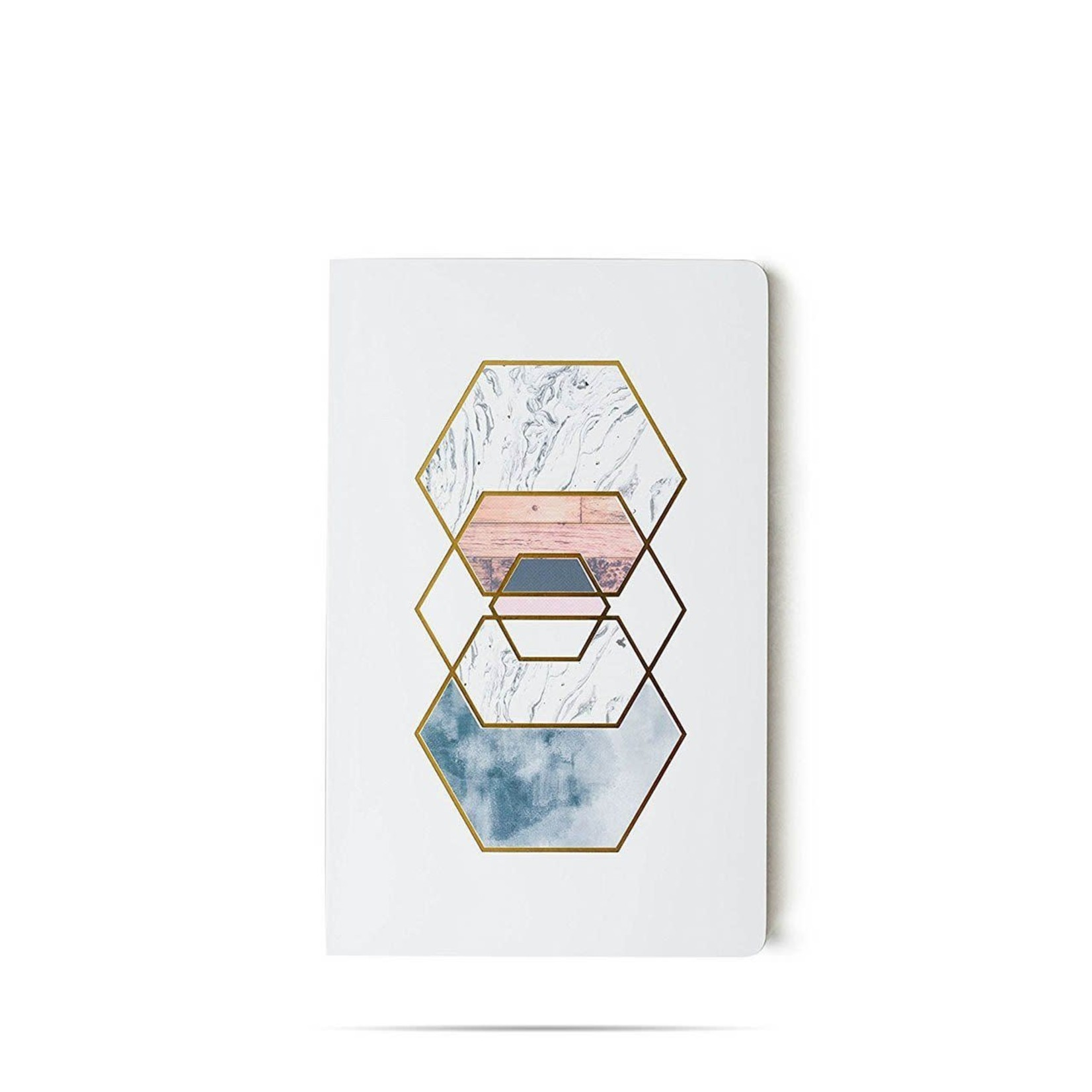 """""""Gold Hexes"""" Lined Notebook"""