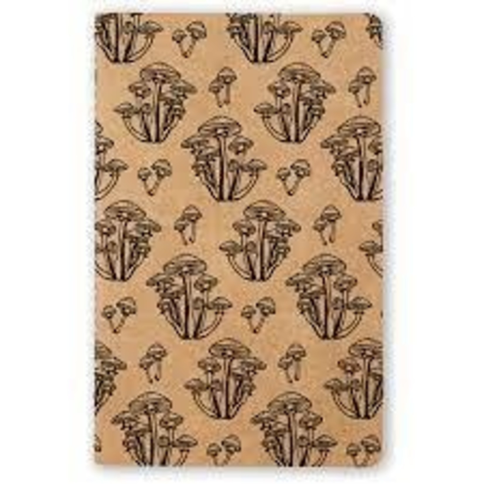 """Wild Mushroom"" Kraft Lined Notebook"