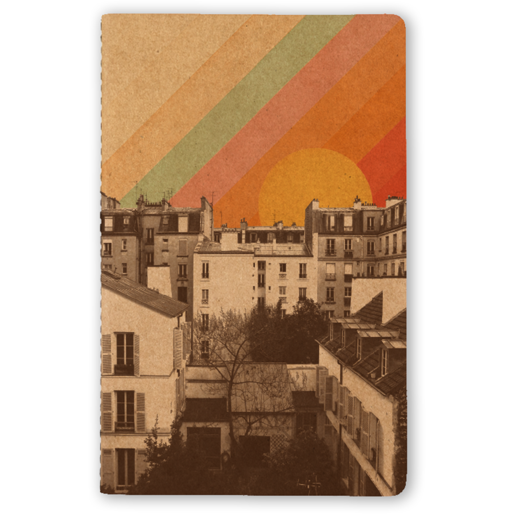 """Rainbow Sky"" Kraft Lined Notebook"