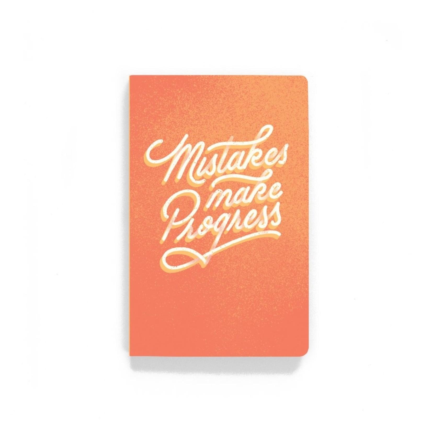 """Mistakes Make Progress"" Lined Notebook"