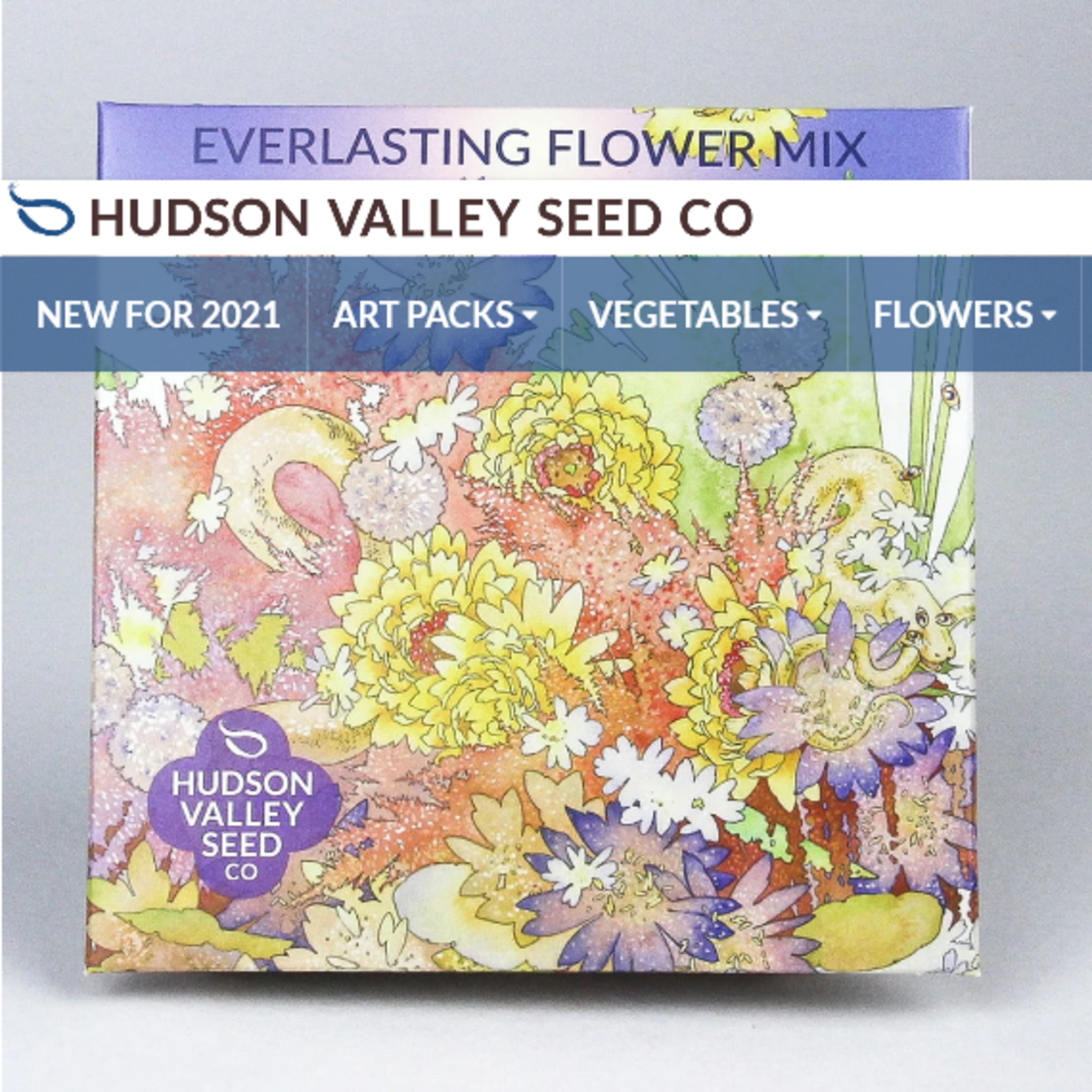 Hudson Valley Seeds Everlasting Flower Mix Seeds