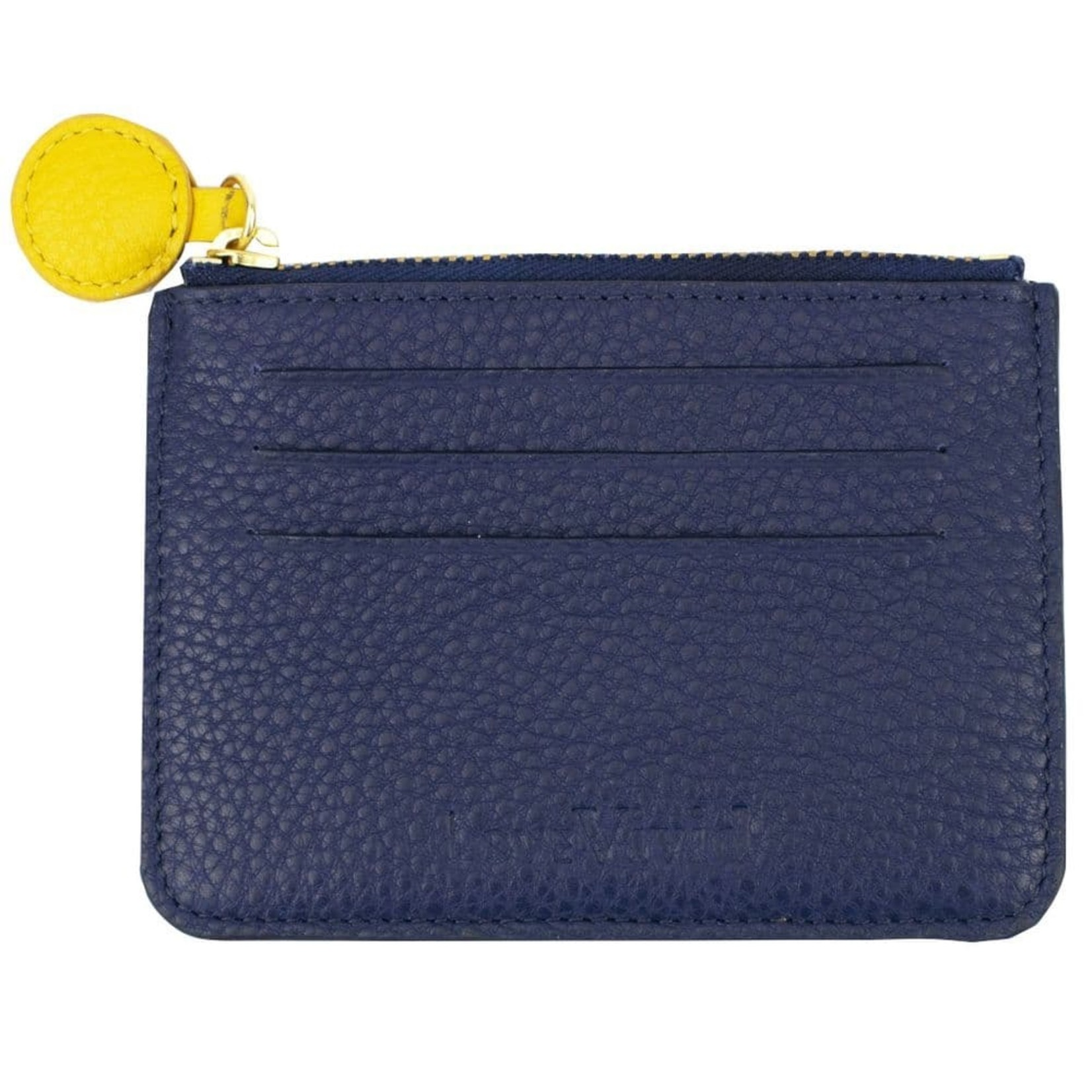 Vivid Credit Card Wallet in Navy and Yellow