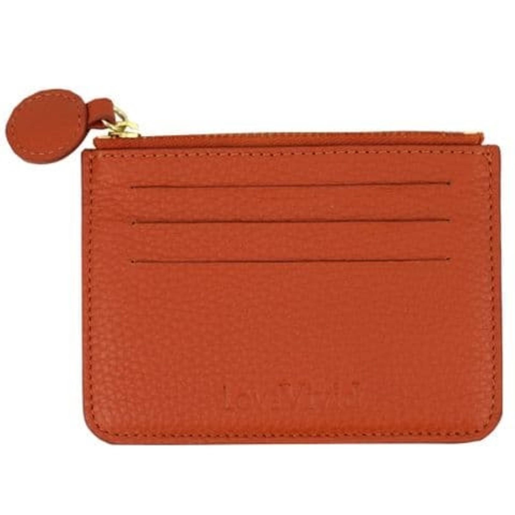 Vivid Credit Card Wallet in Orange