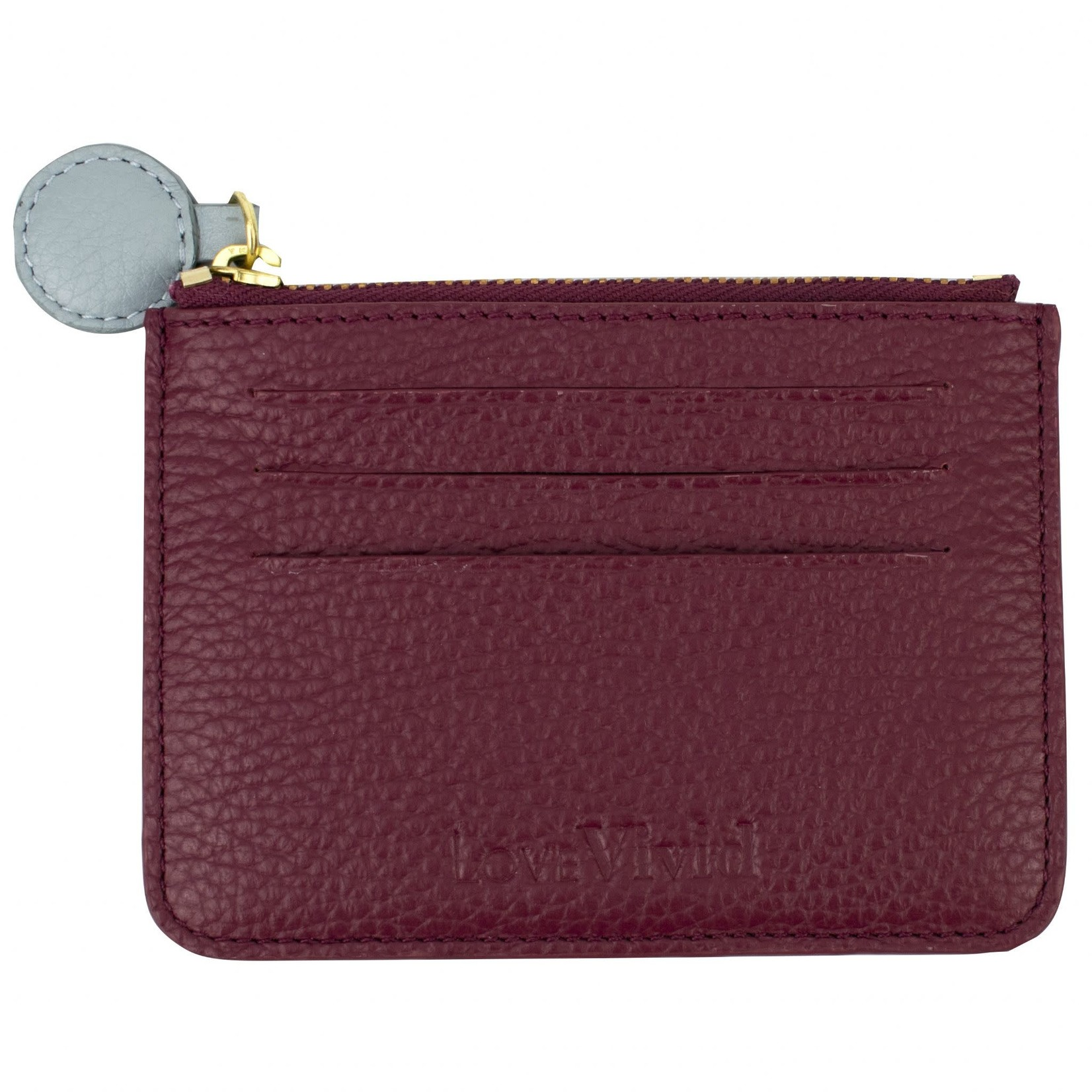 Vivid Credit Card Wallet in Plum and Sky