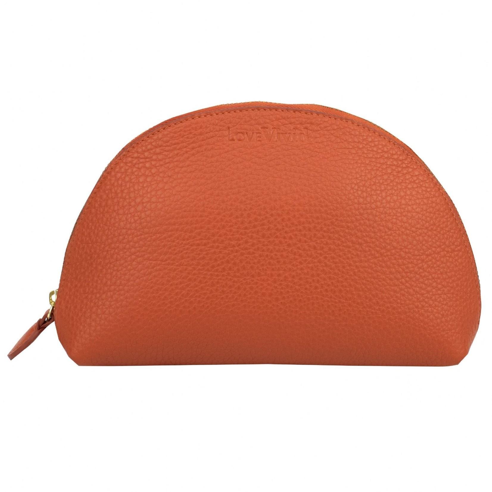 Vivid Cosmetic Bag in Orange
