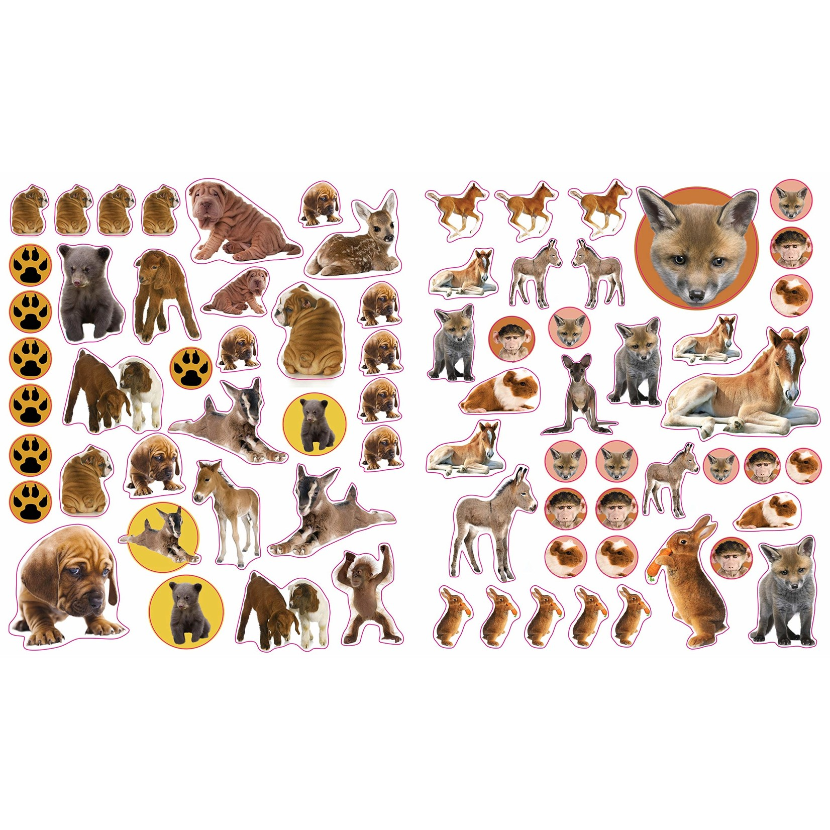 Baby Animals Reusable Stickers