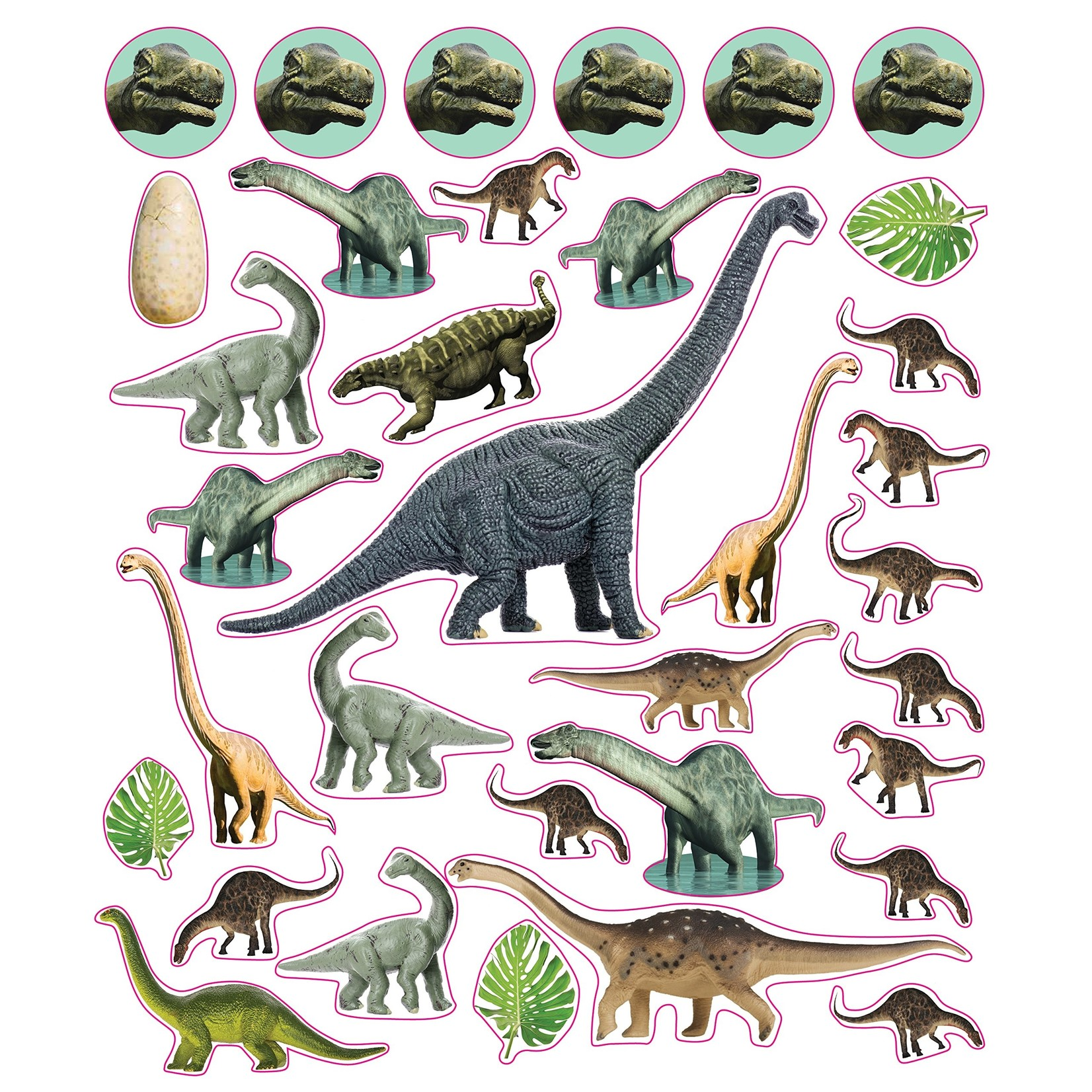 Dinosaurs Reusable Stickers