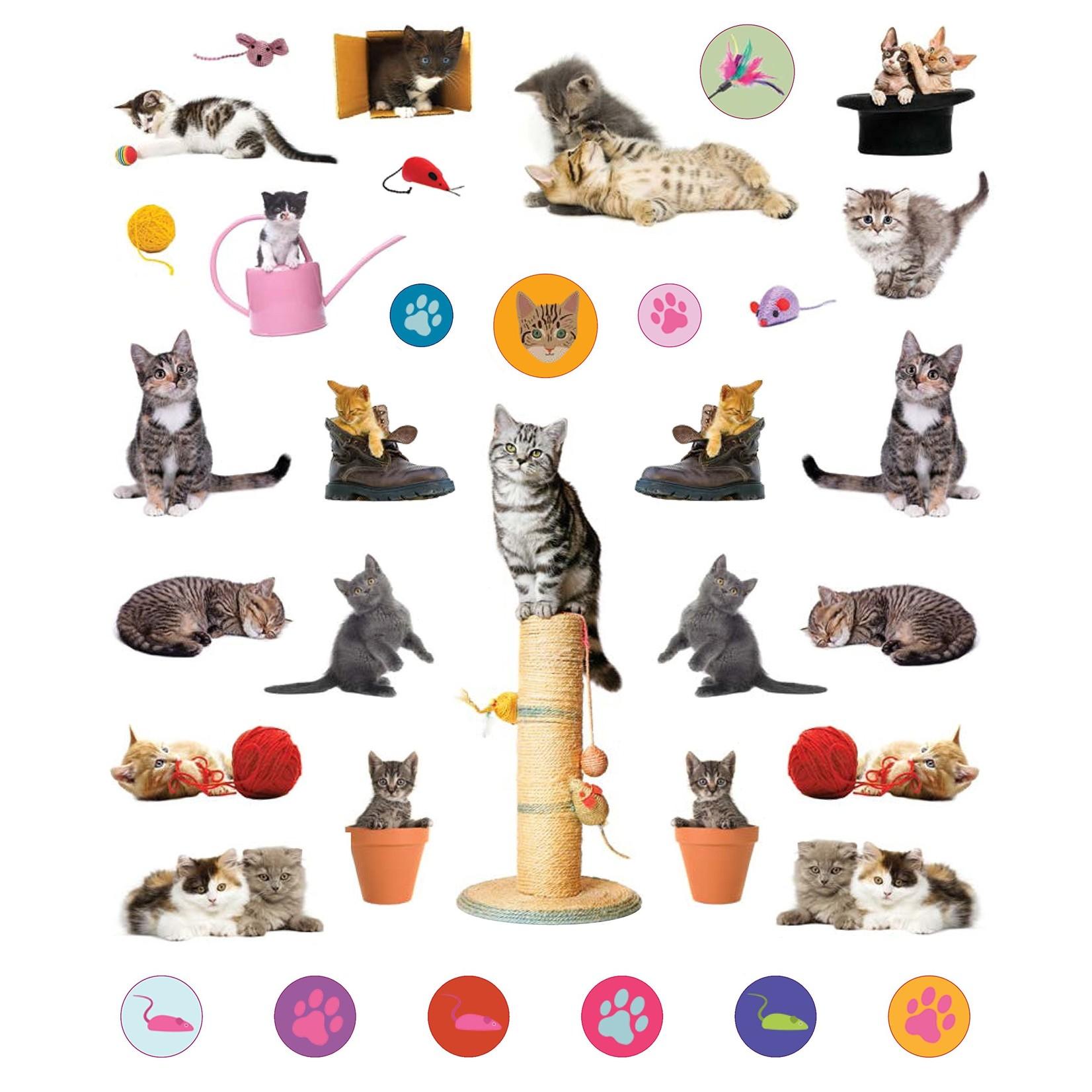 Kittens Reusable Stickers