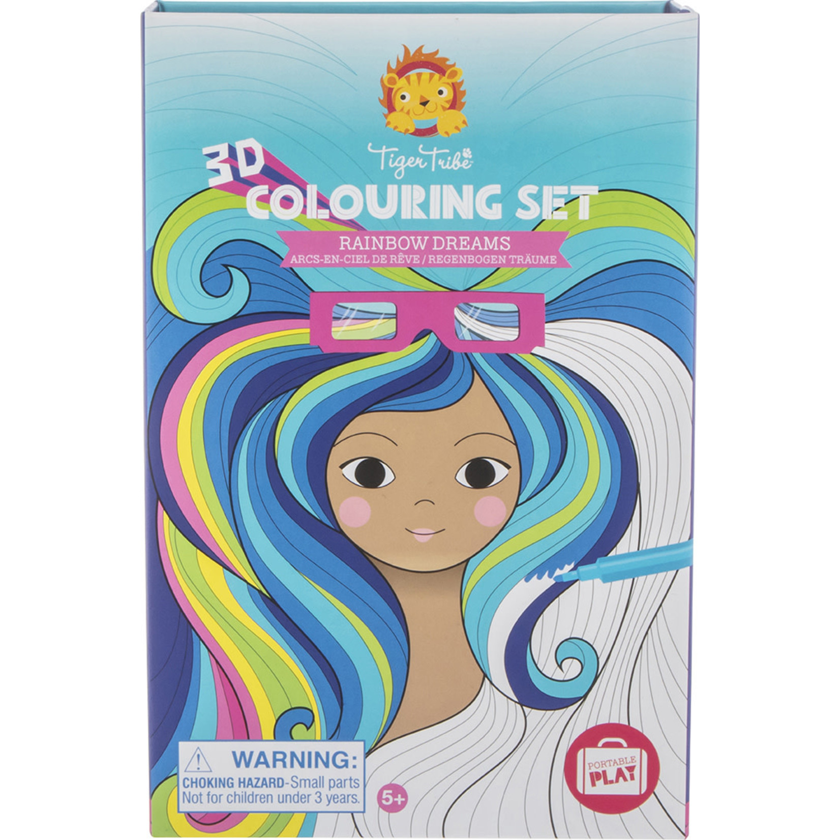 Tiger Tribe Rainbow Dreams 3D Coloring Set