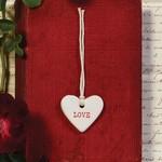 """Ceramic """"Love"""" Tag"""