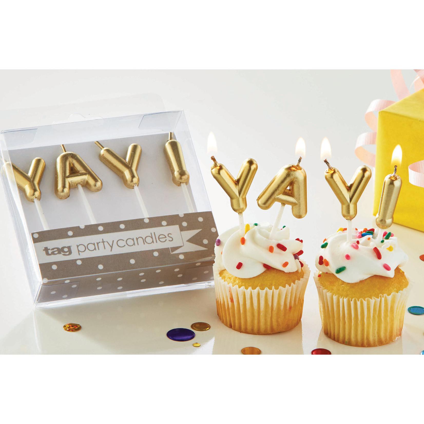 Rock Scissor Paper Yay! Birthday Candles
