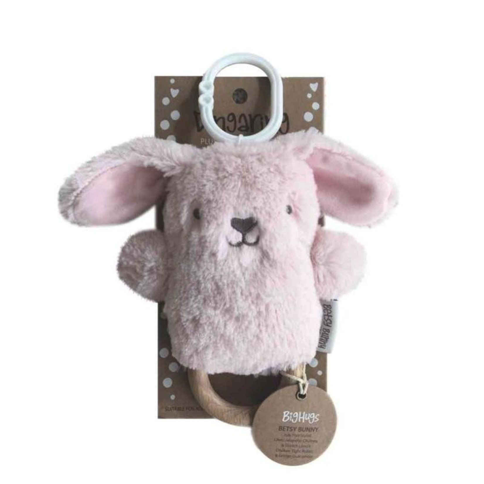 Betsy Bunny Wooden Baby Teether