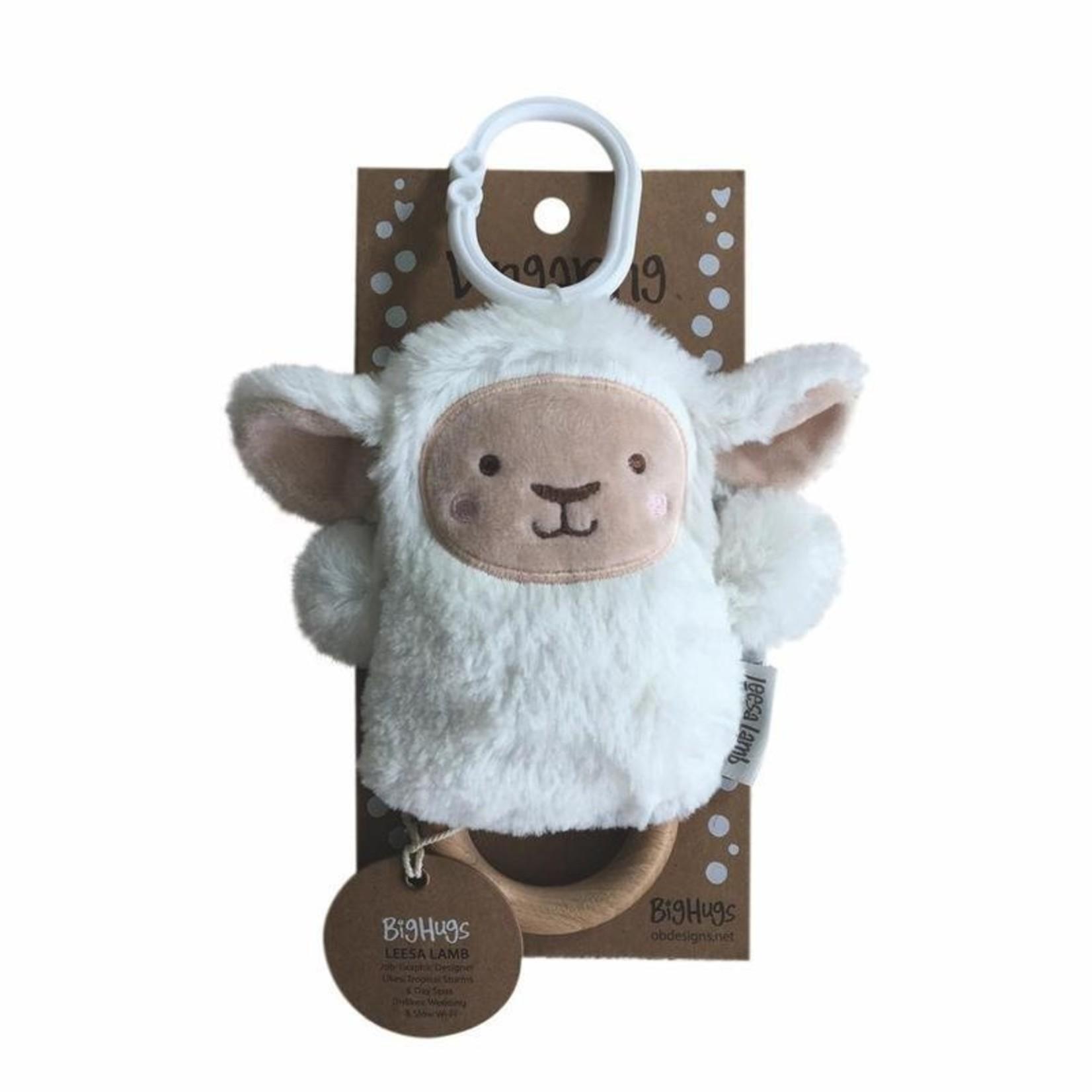 Lee Lamb Wooden Baby Teether