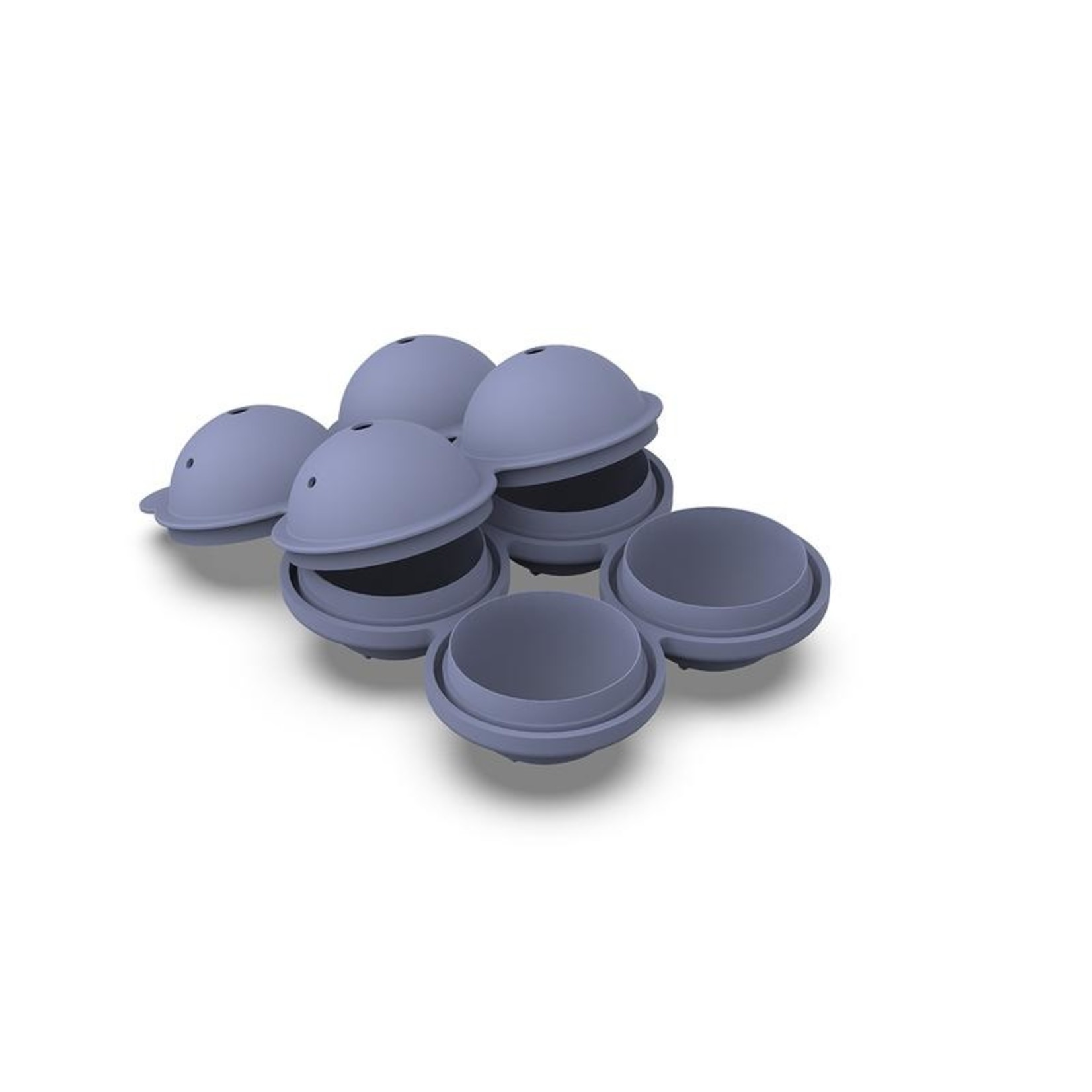 W & P Designs Sphere Ice Tray in Blue
