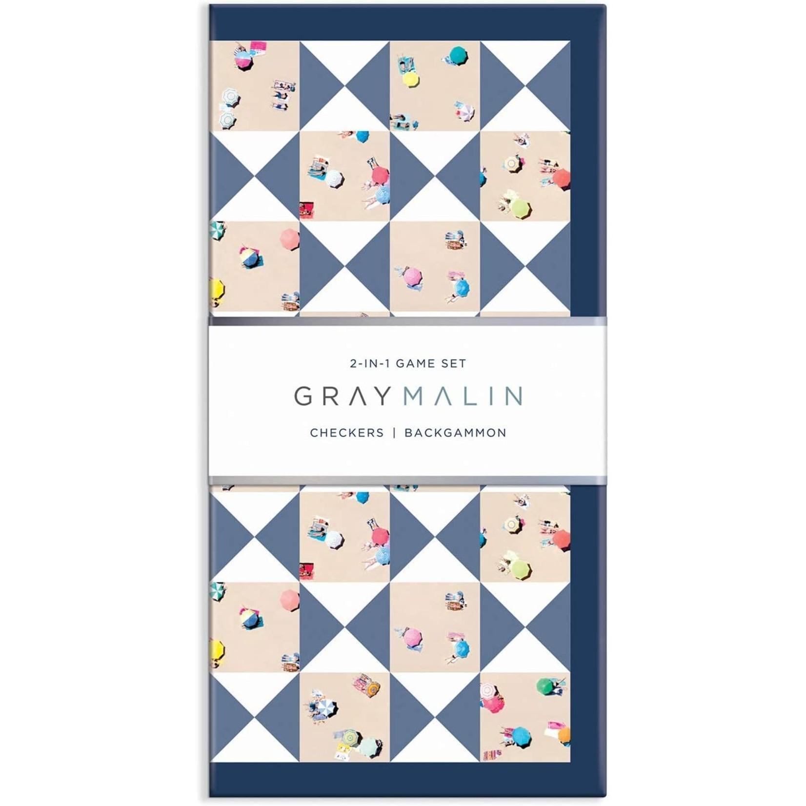 Chronicle Books Gray Malin 2-in-1 Checkers/Backgammon