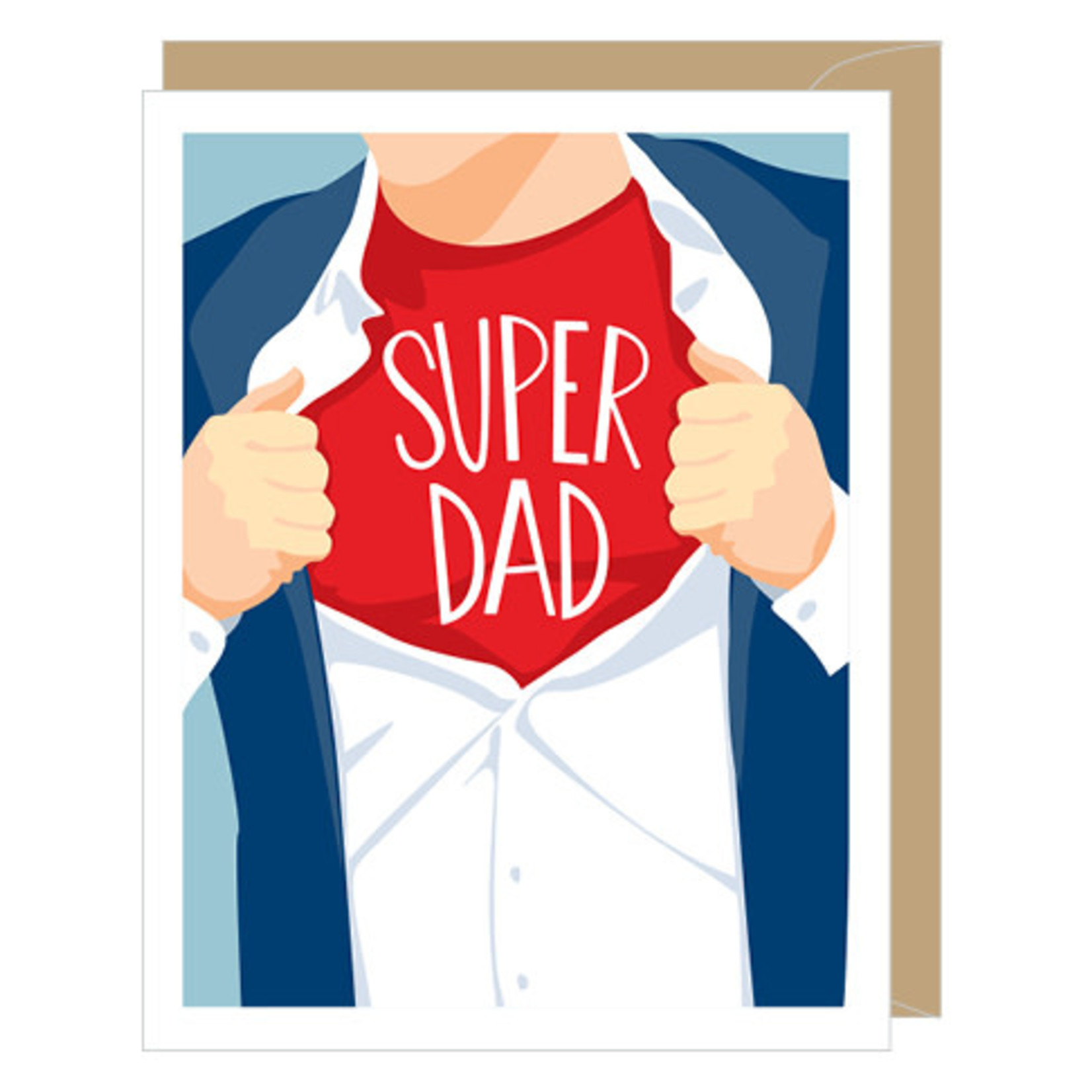 Father's Day Card: Super Dad