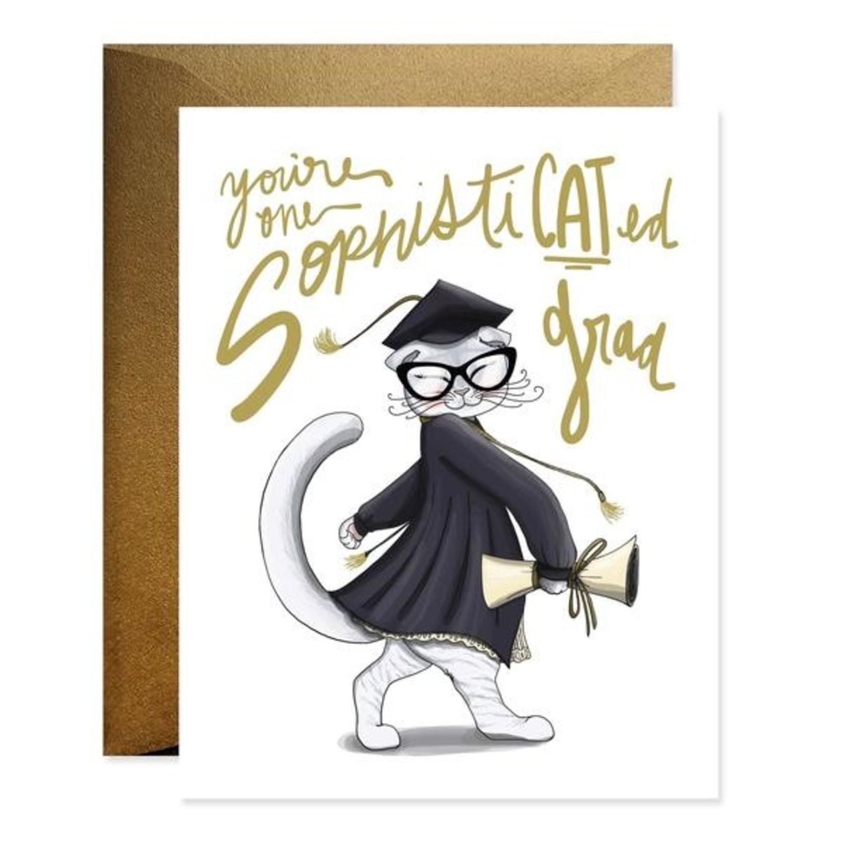 Graduation Card: SophistiCATed Grad