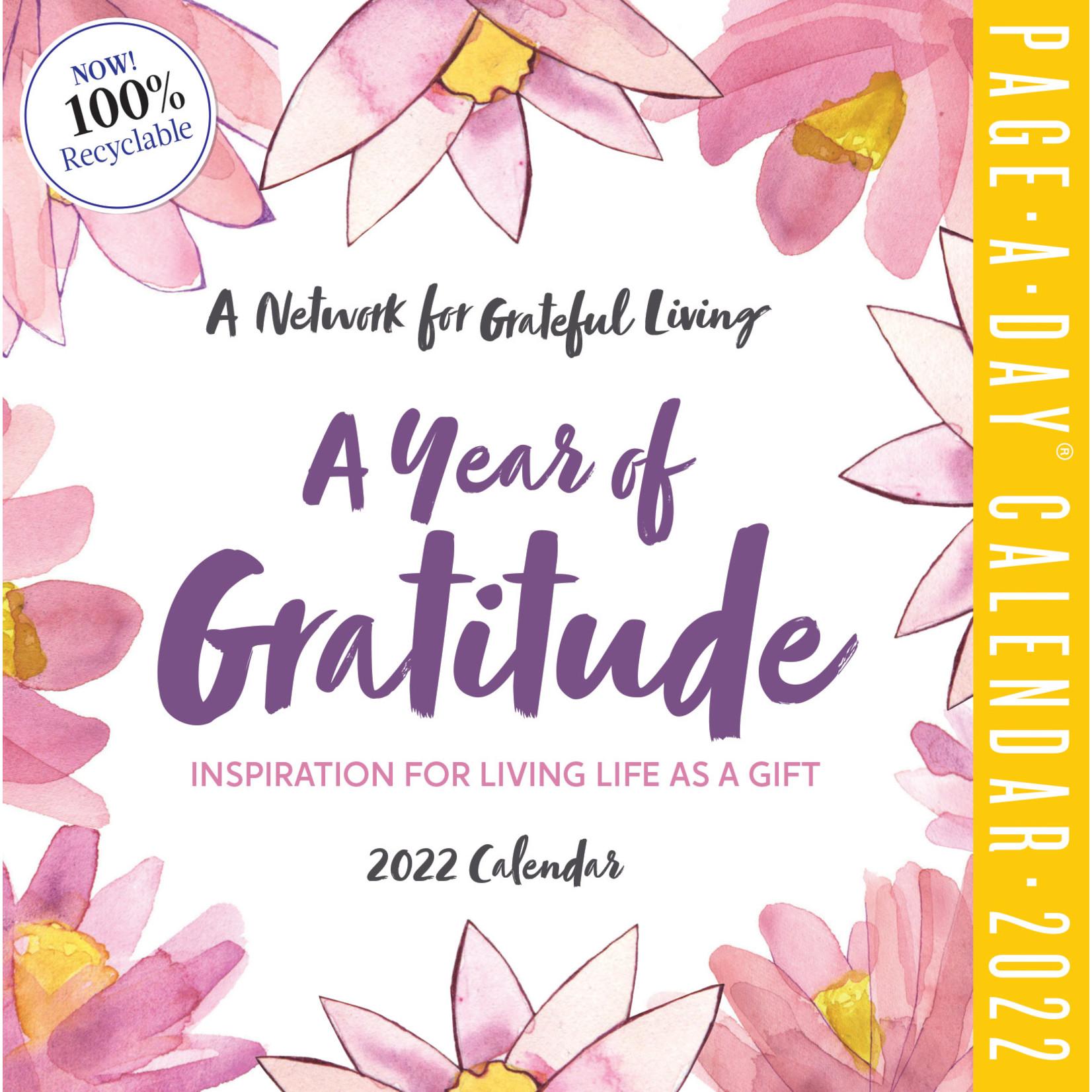 Workman Publishing Year of Gratitude Boxed Calendar 2022