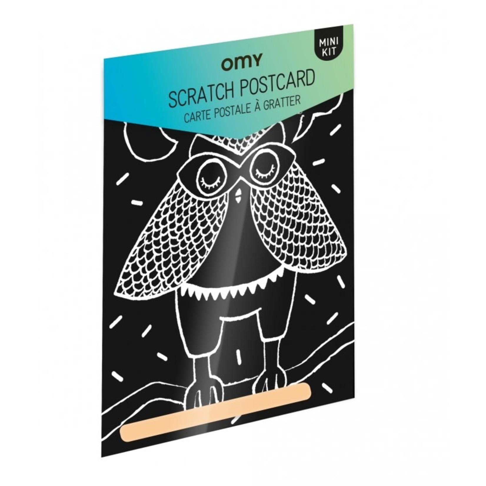 OMY Loula Scratch Postcard