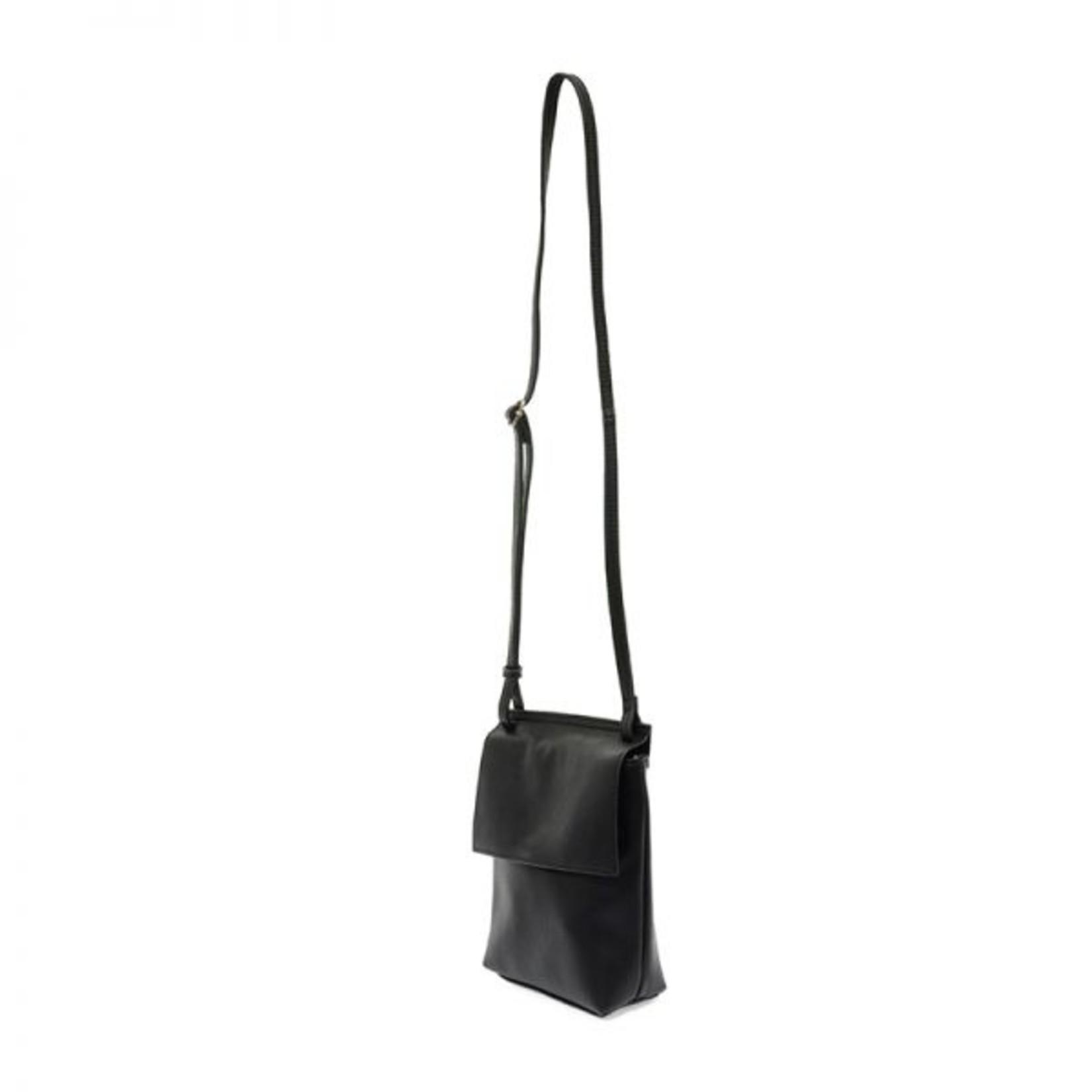 Aimee Front Flap Crossbody in Black