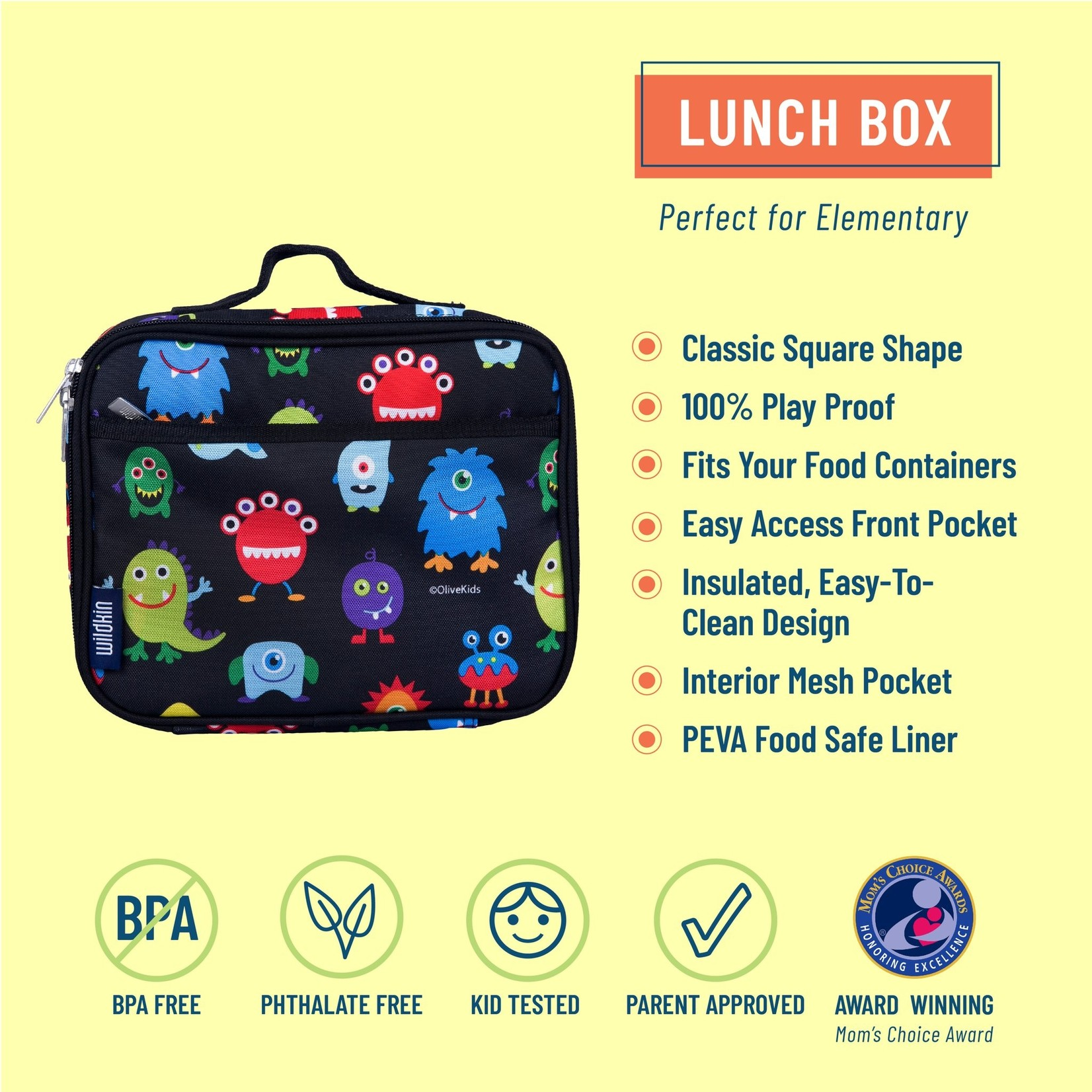 Monster Green Lunch Box