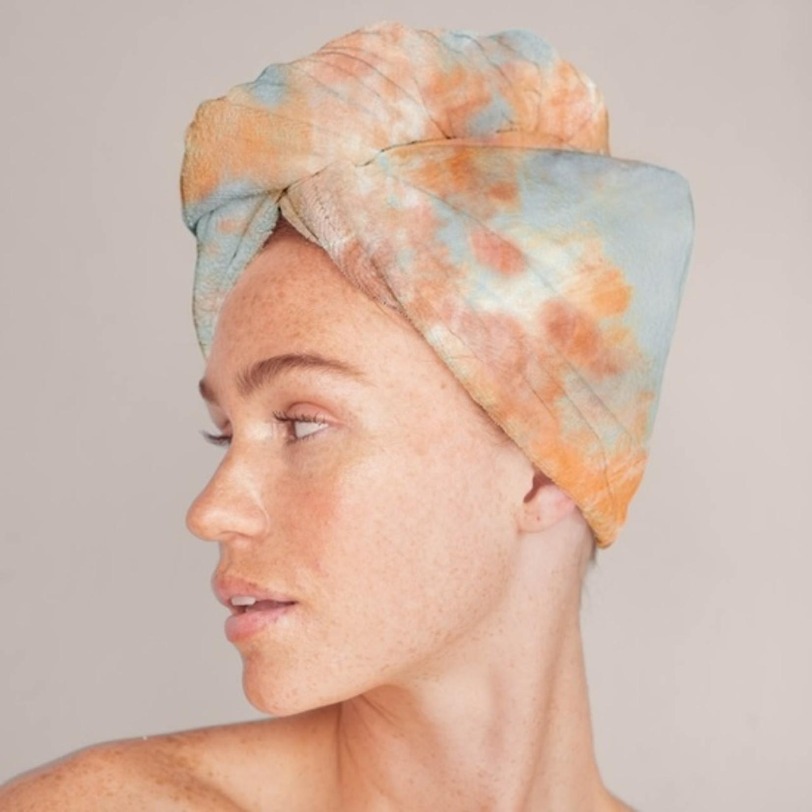 Kitsch Microfiber Hair Towel in Sunset Tie Dye