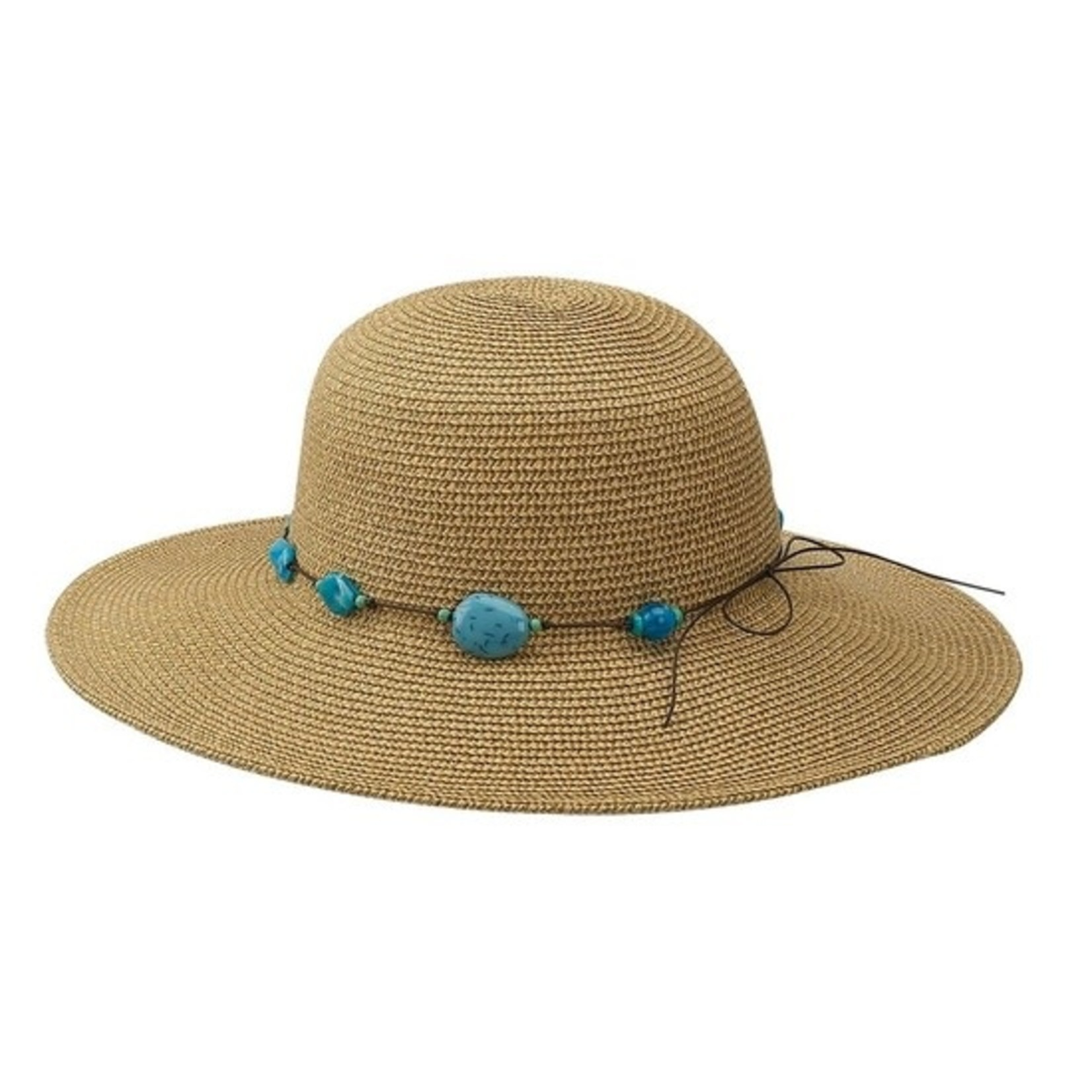 Stone Band Wide Brim Hat in Natural