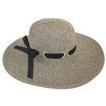 Tweed Sun Hat with Black Band