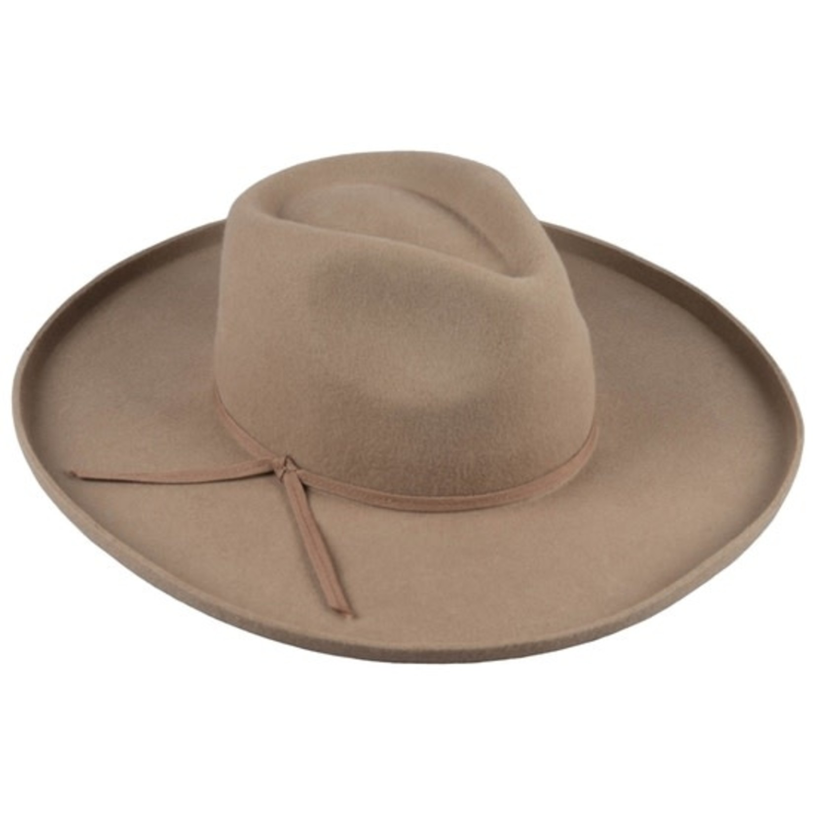 Wide Brim Hat in Brown