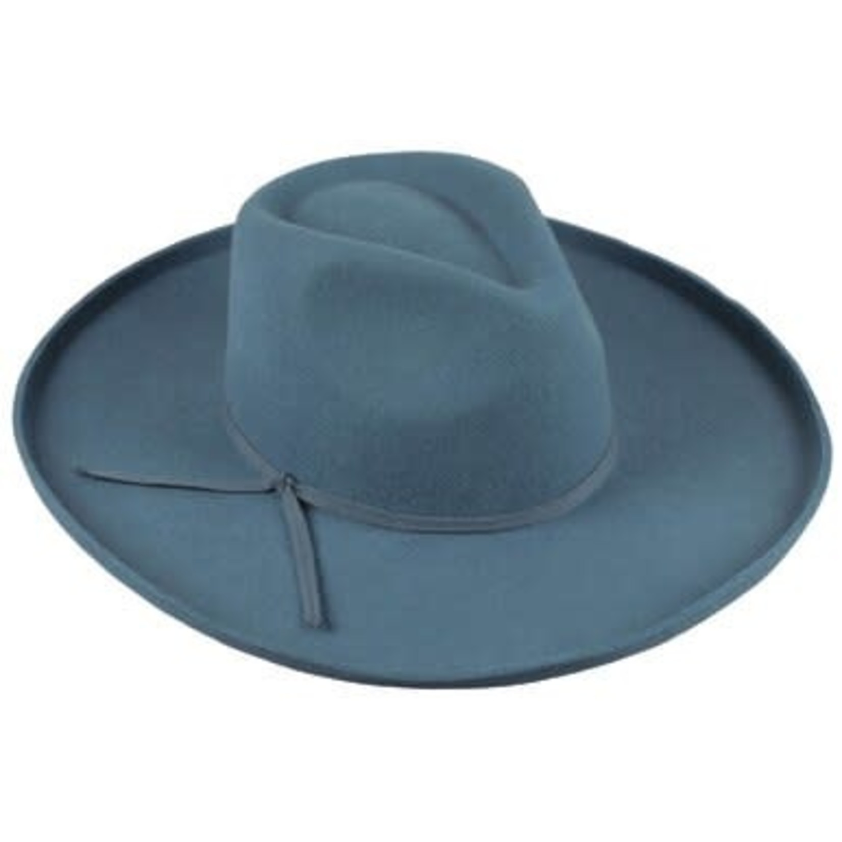 Wide Brim Hat in Blue