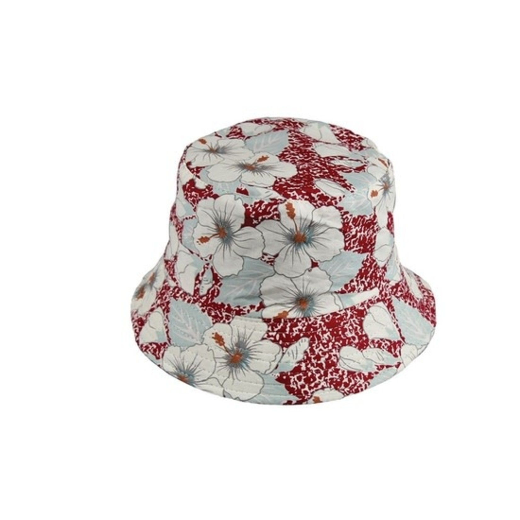 Floral Bucket Hat in Red