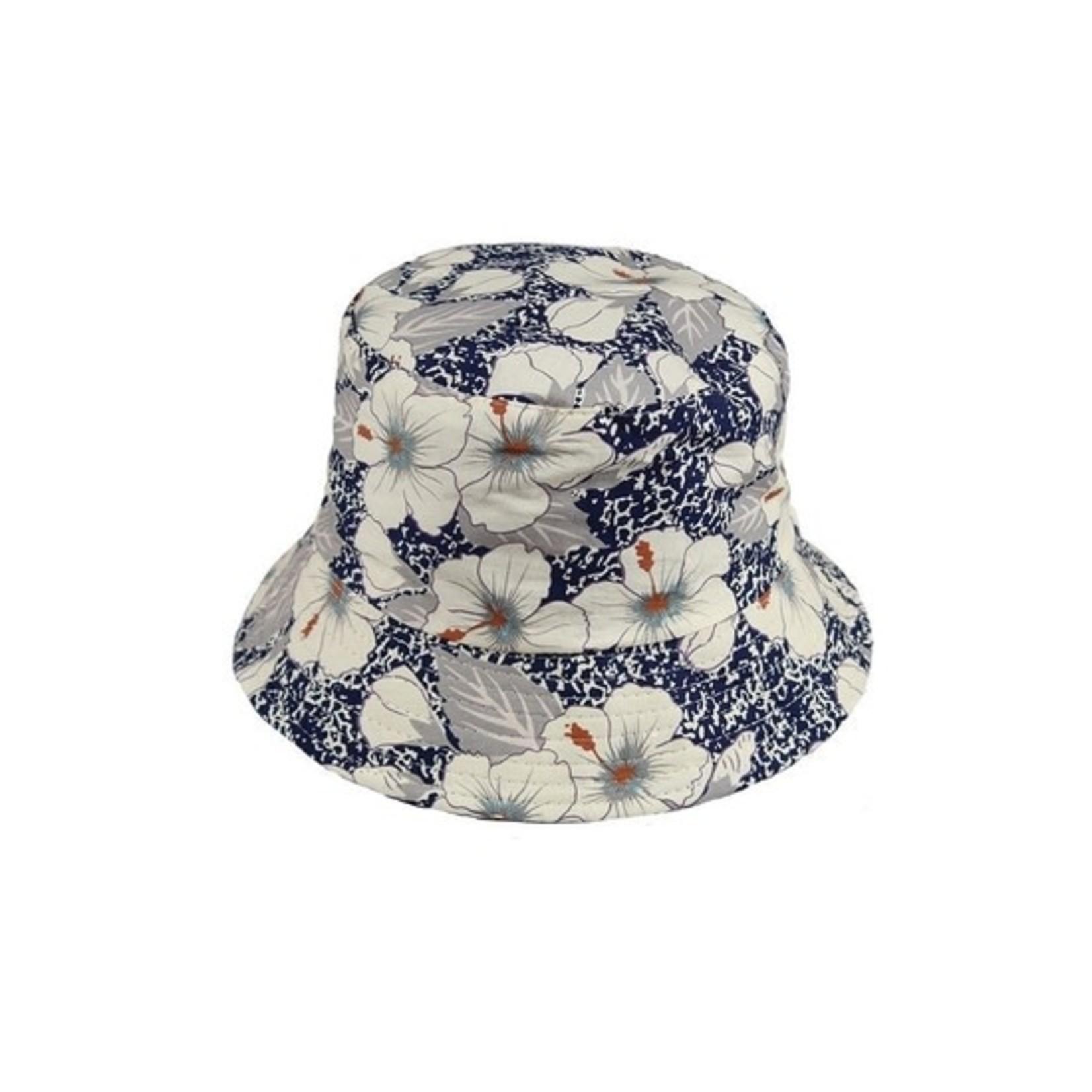 Floral Bucket Hat in Blue
