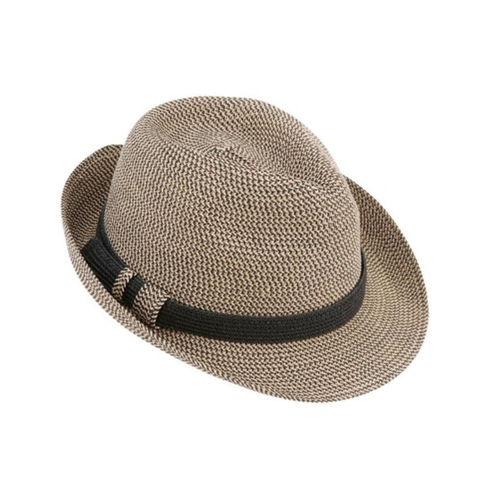 Black Braided Tweed Hat