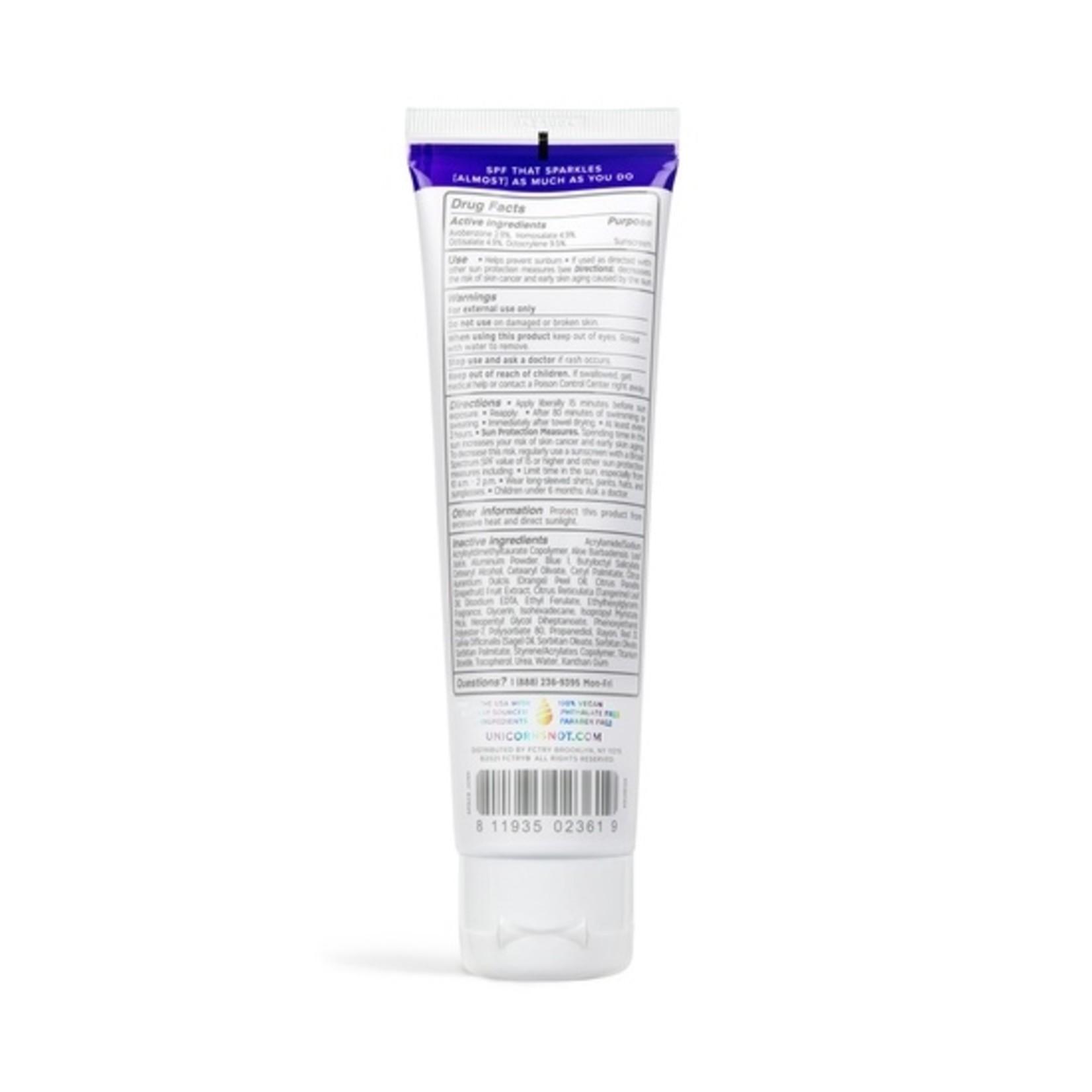 FCTRY Unicorn Snot Bio Glitter SPF 30 Sunscreen
