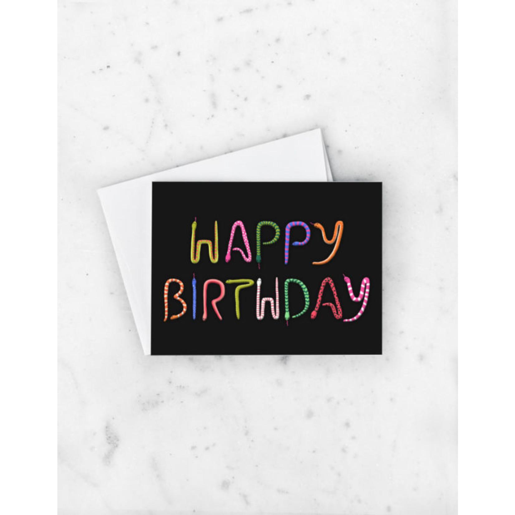 Birthday Card: Happy Birthday Snakes