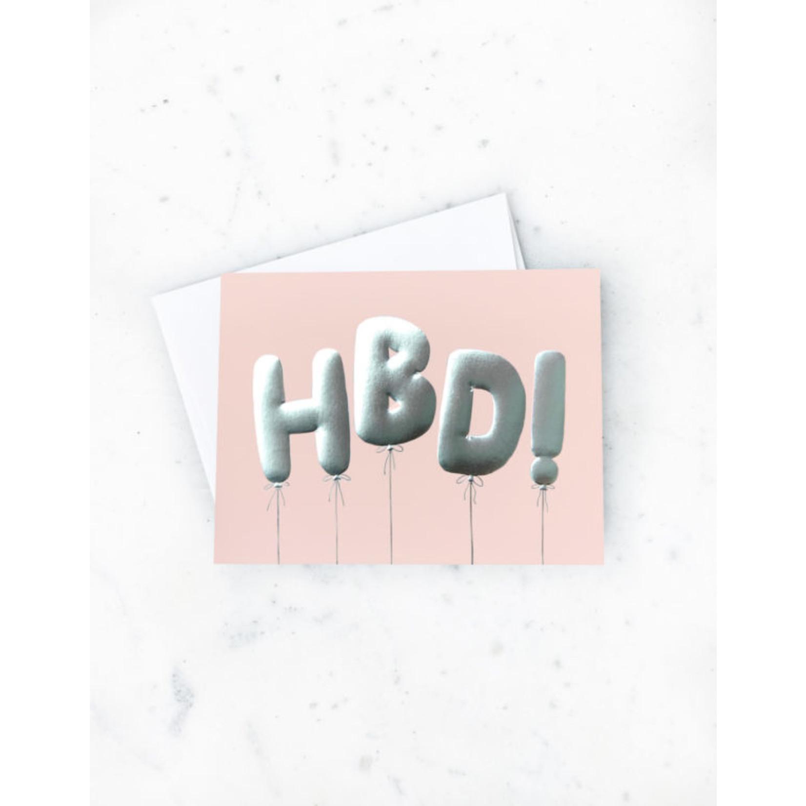 Birthday Card: HBD! Balloons