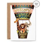 Baby Card:  Welcome Hot Air Balloon