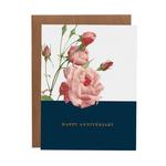 Wedding Card: Happy Anniversary Roses