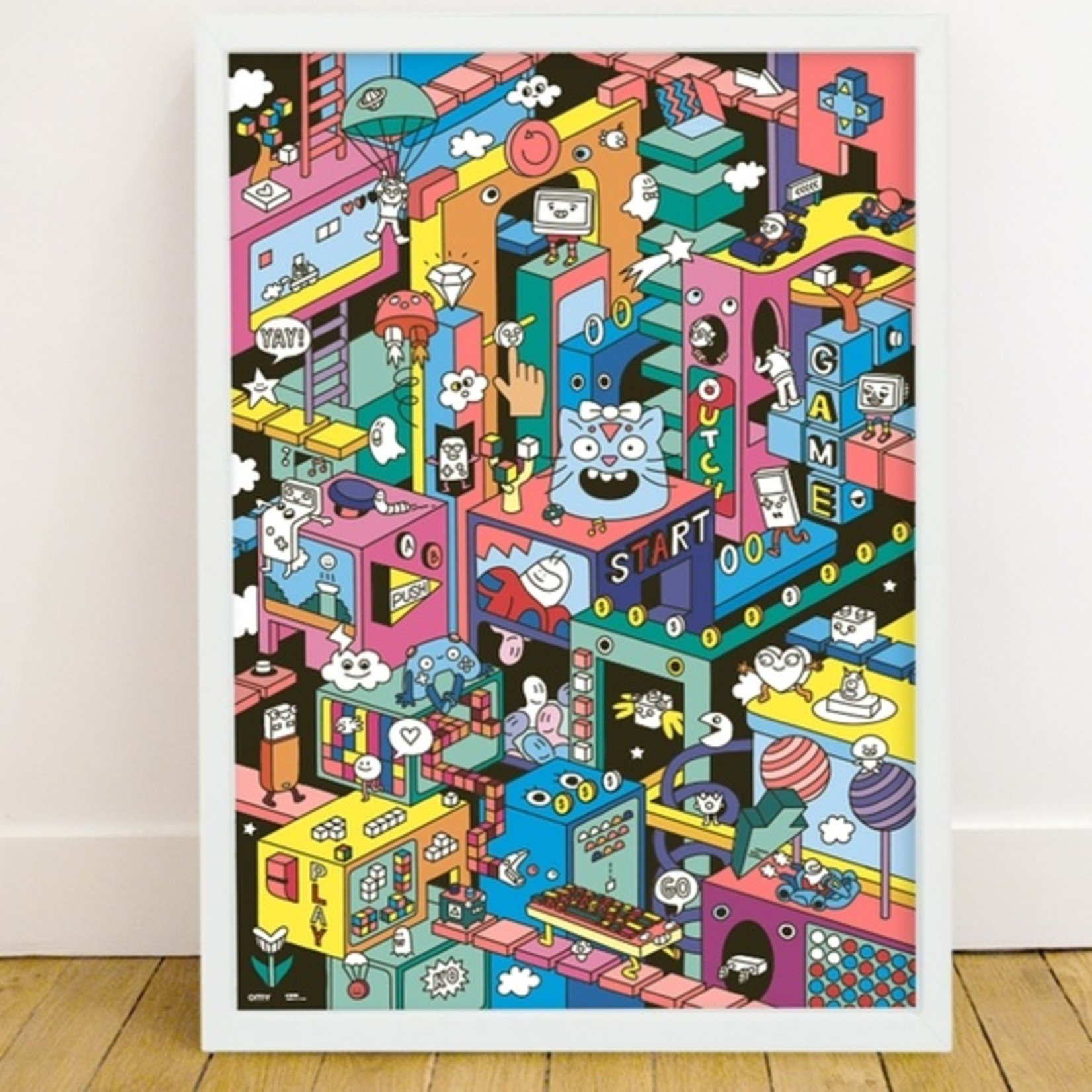 Video Game Giant Sticker Poster