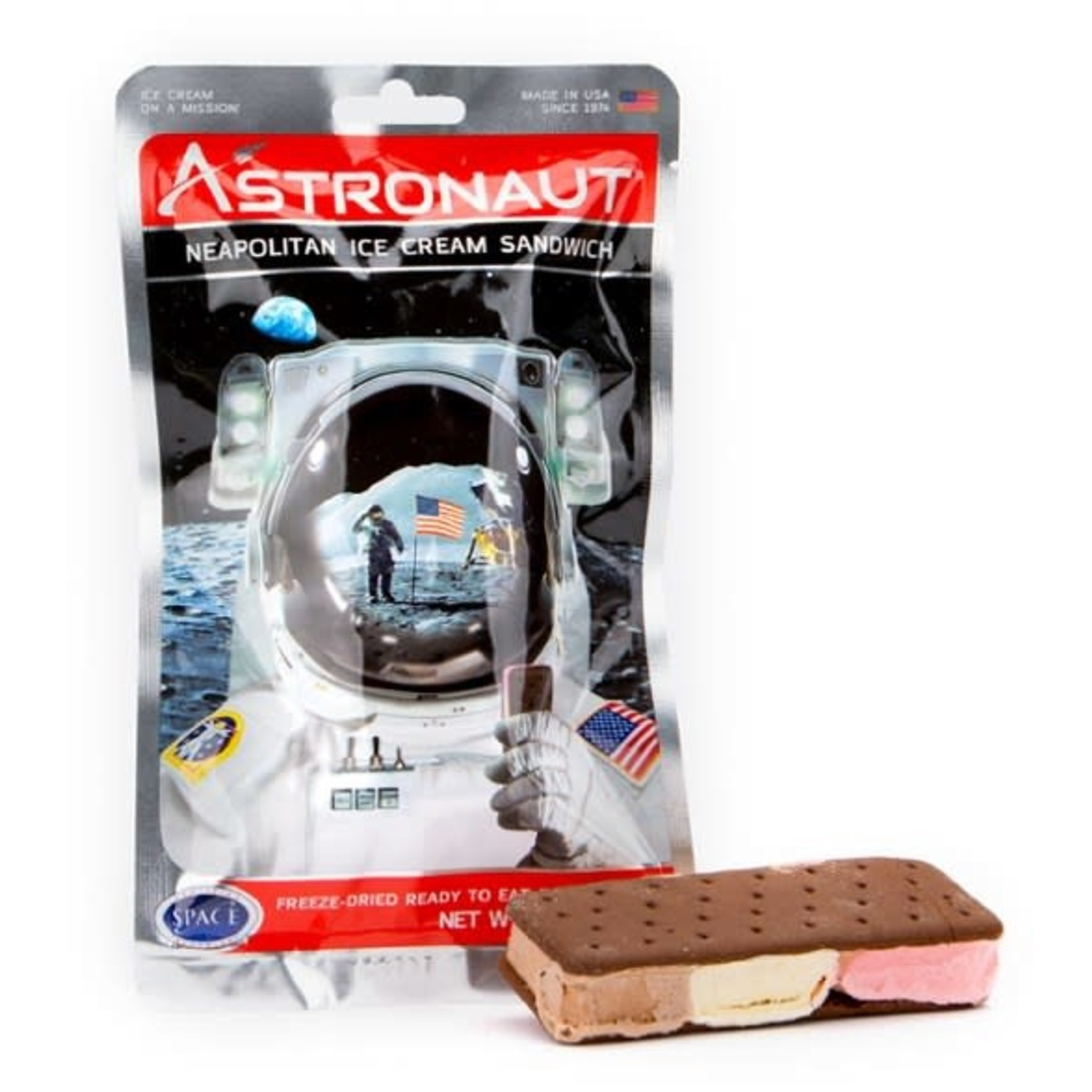 American Outdoor Products Astronaut Neapolitan Ice Cream Sandwich