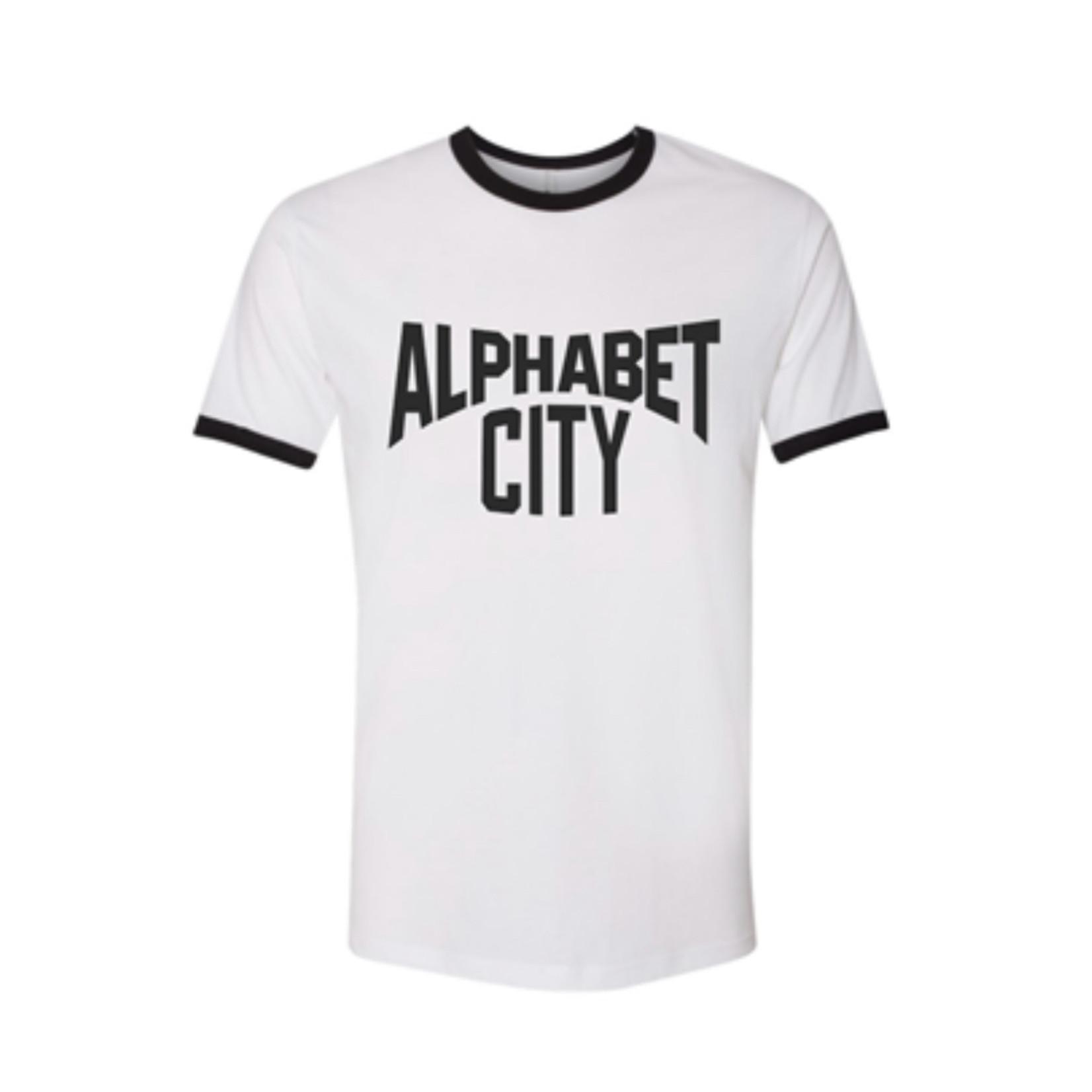 Exit9 Gift Emporium Alphabet City T-Shirt in White/Black
